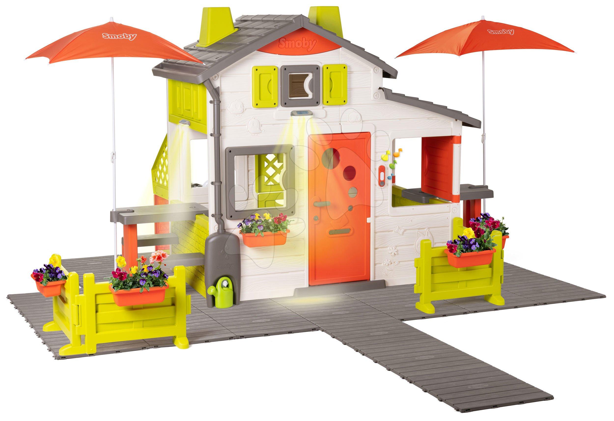 Domček Neo Friends House DeLuxe Smoby s dvoma posedeniami a zadnou kuchynkou