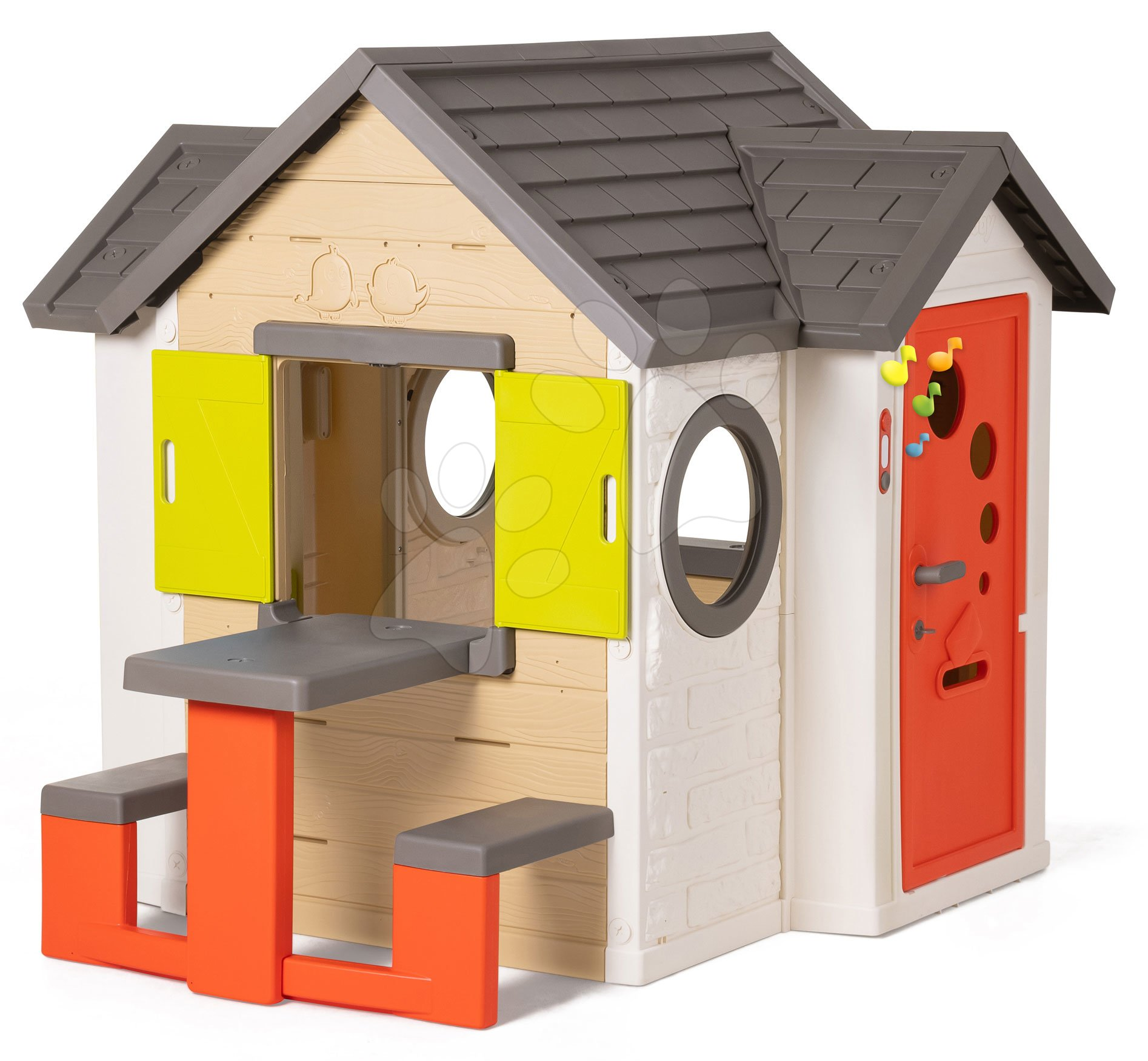 Domček My House Smoby so stolom a plnými dverami