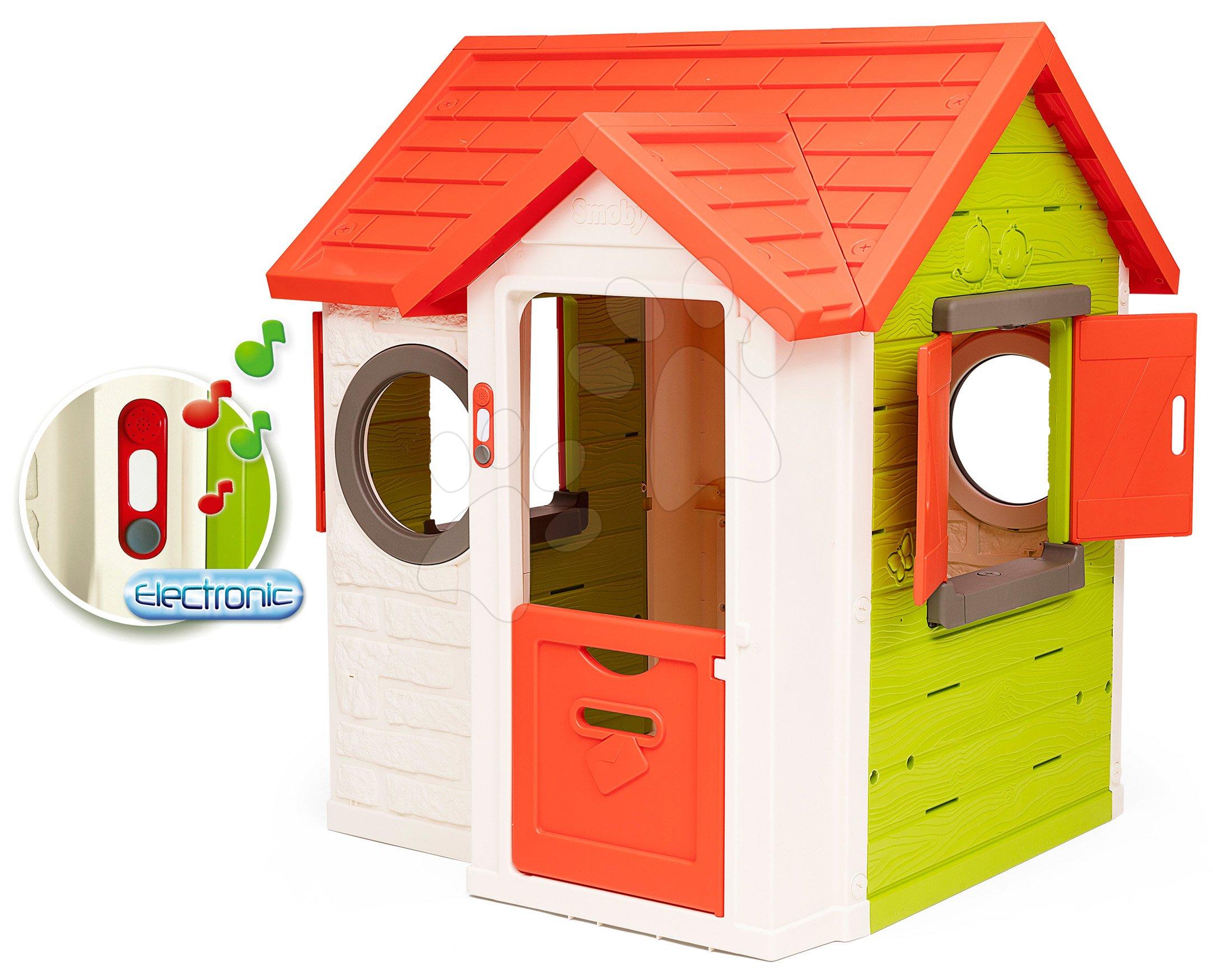 Domček My Neo House DeLuxe Smoby s elektronickým zvončekom na dvere od 24 mes