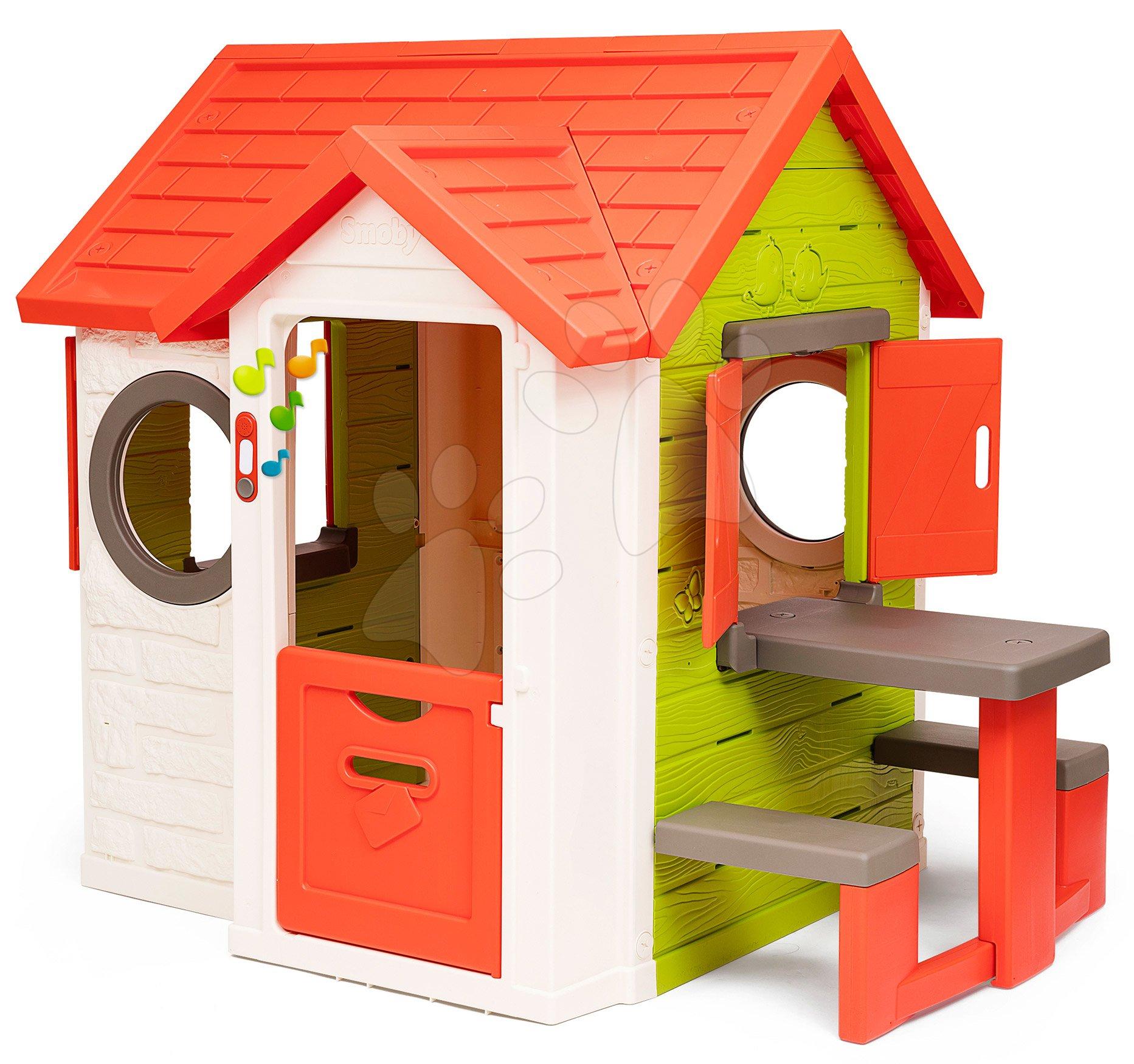 Set domček My Neo House DeLuxe Smoby s piknik stolíkom a zvončekom od 24 mes