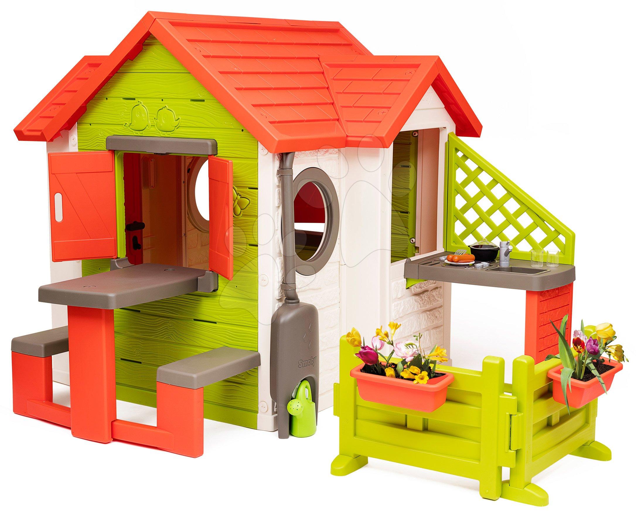 Căsuță My Neo House DeLuxe Smoby variantă extinsă