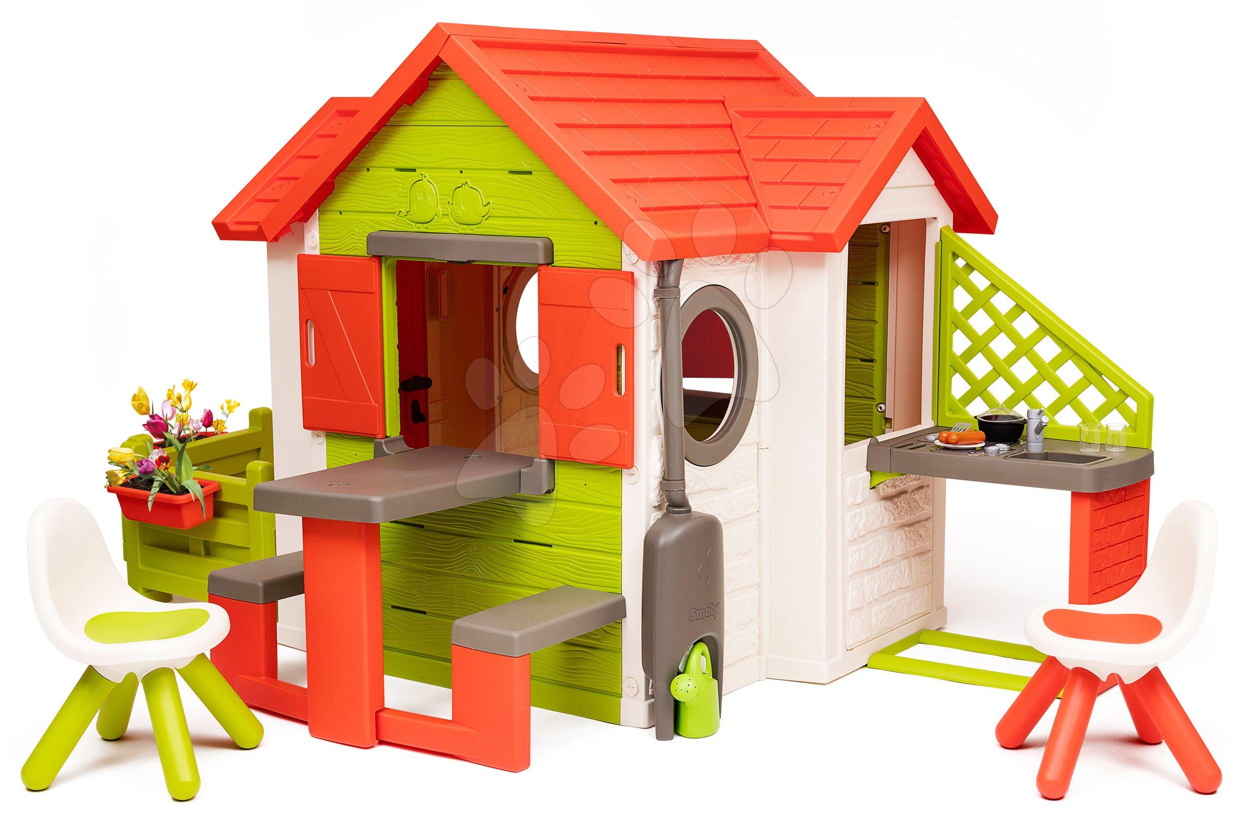 Domček My Neo House DeLuxe Smoby s nadstavbovým riešením a 2 stoličkami