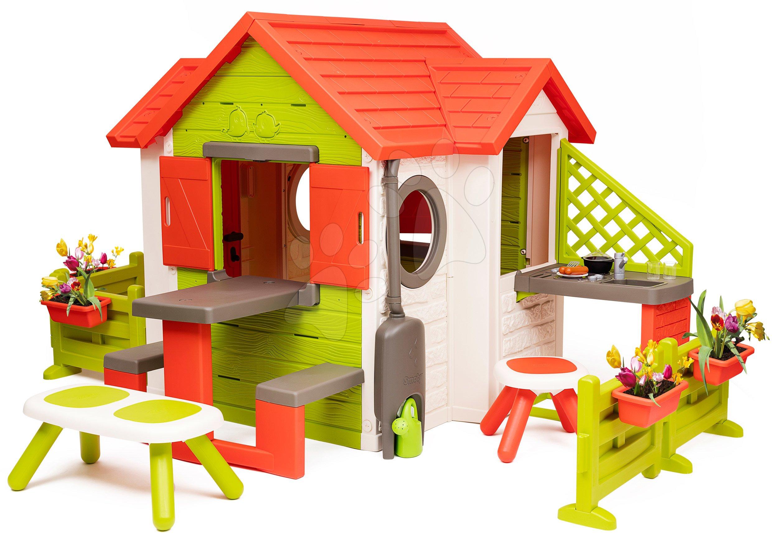 Domček My Neo House DeLuxe Smoby s veľkou záhradkou a posedením