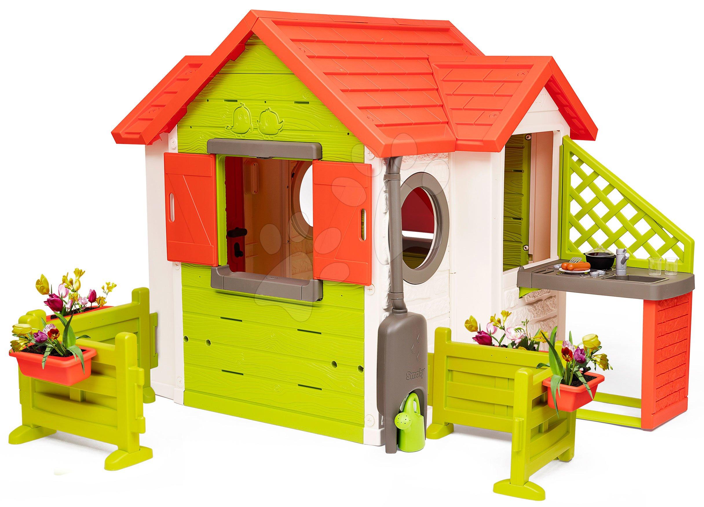 Domček My Neo House DeLuxe Smoby s kuchynkou a záhradkami
