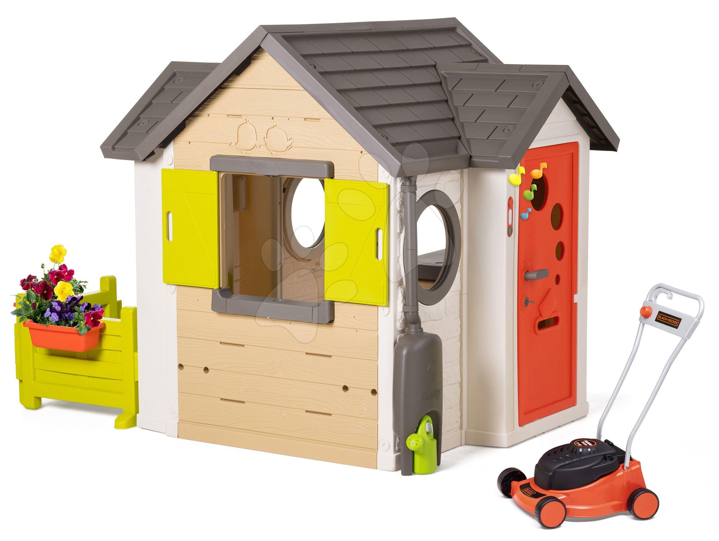 Domček My Neo House DeLuxe Smoby pre záhradníka s kosačkou Black&Decker
