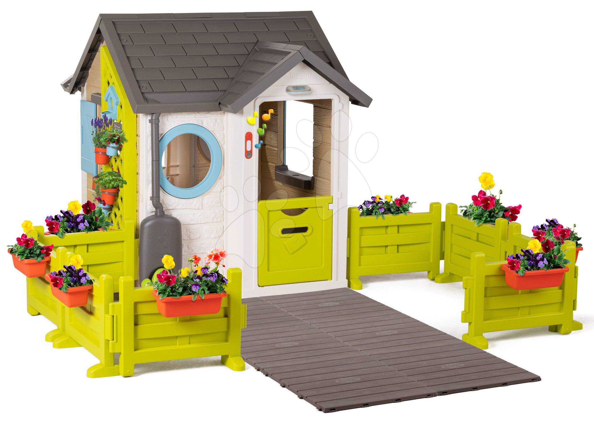 Domček pre záhradníka Garden House Smoby výnimočne rozšíriteľný s prístupovou cestou cez záhradu od 24 mes