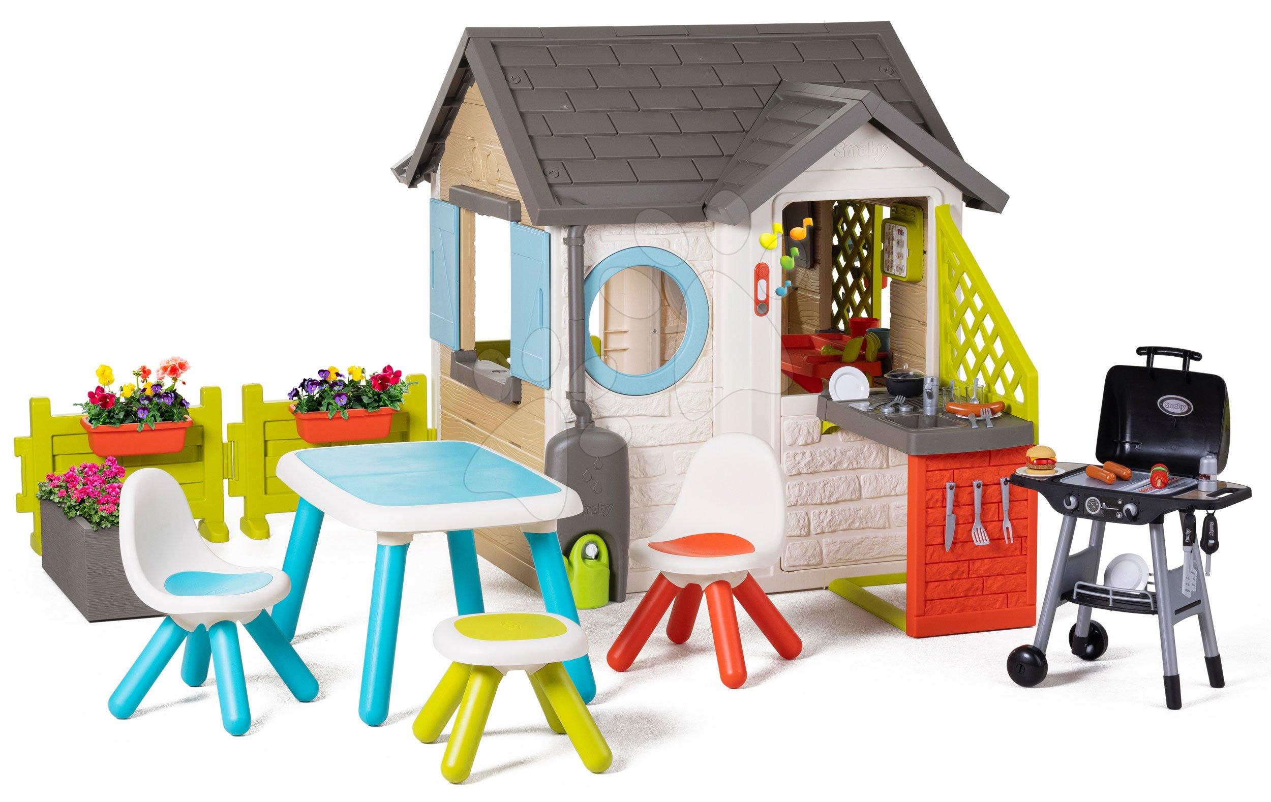 Domček pre záhradníka Garden House Smoby výnimočne rozšíriteľný a grilovačka v reštaurácii od 24 mes