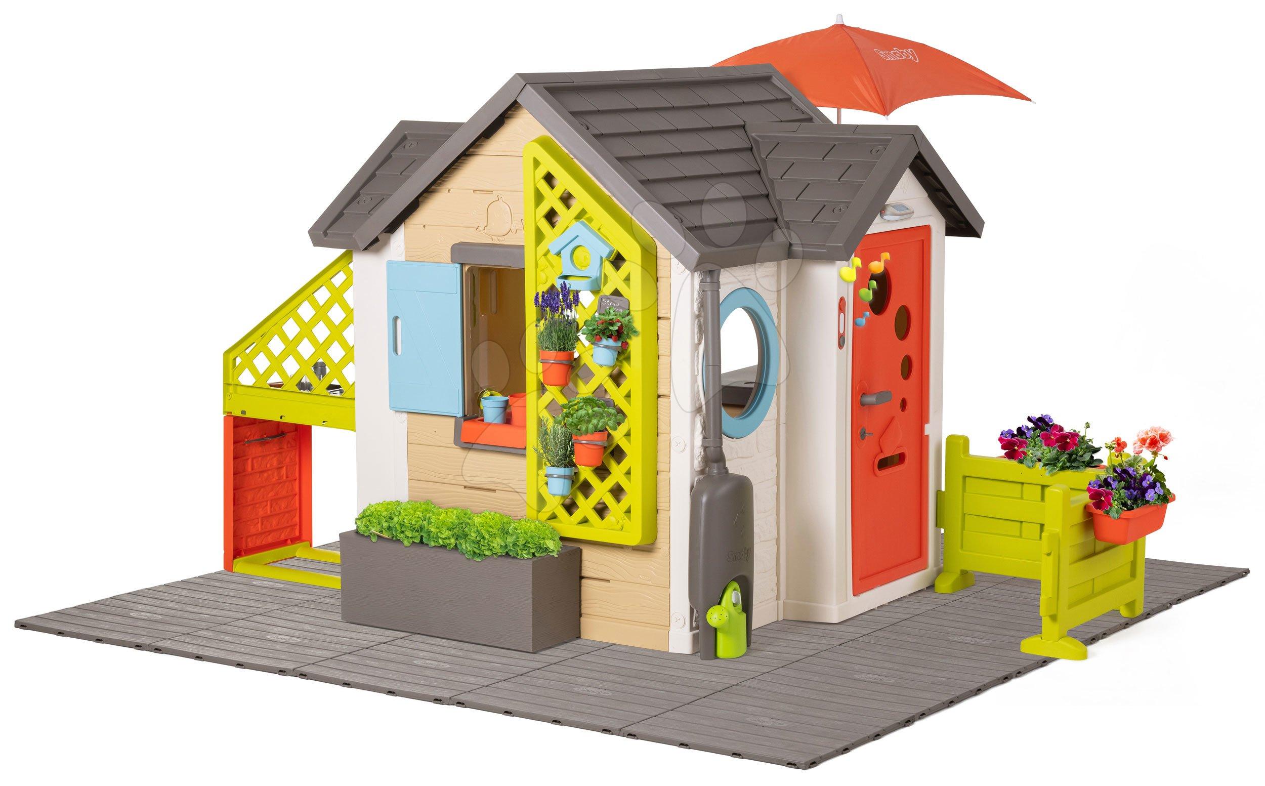 Domček pre záhradníka Garden House Smoby výnimočne rozšíriteľný so základnou komplet výbavou od 24 mes