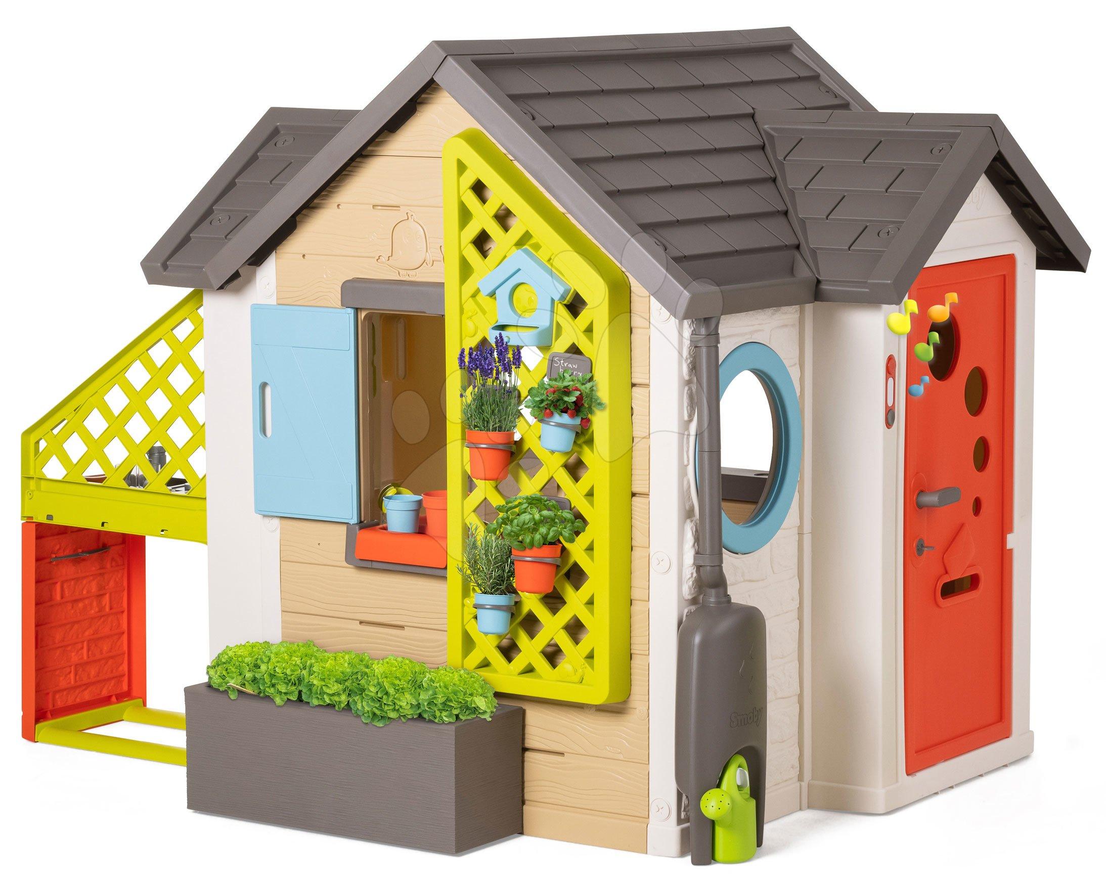 Domček pre záhradníka Garden House Smoby výnimočne rozšíriteľný s kuchynkou od 24 mes
