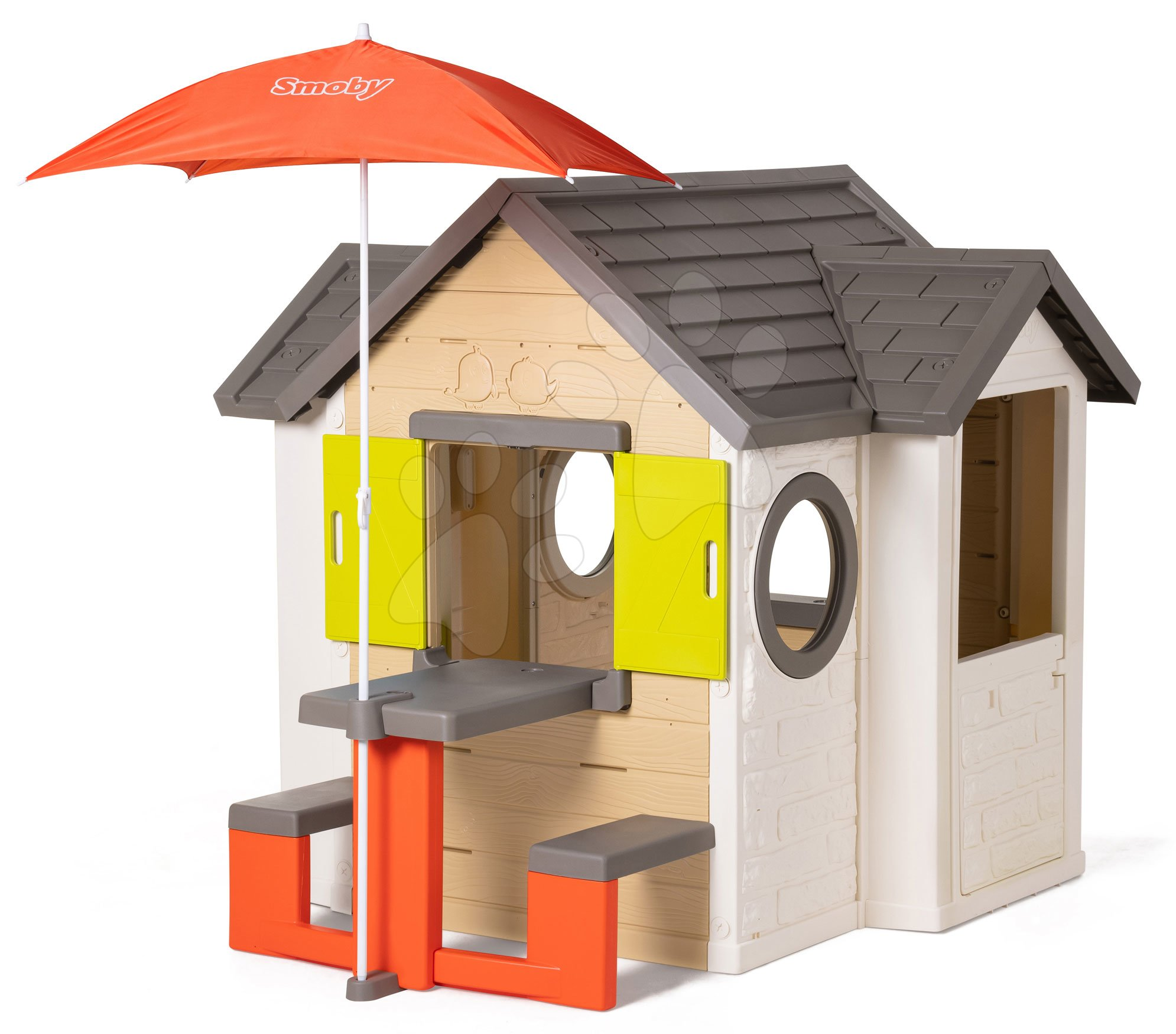 Smoby detský domček My House s dverami, zvončekom a stolík 810401