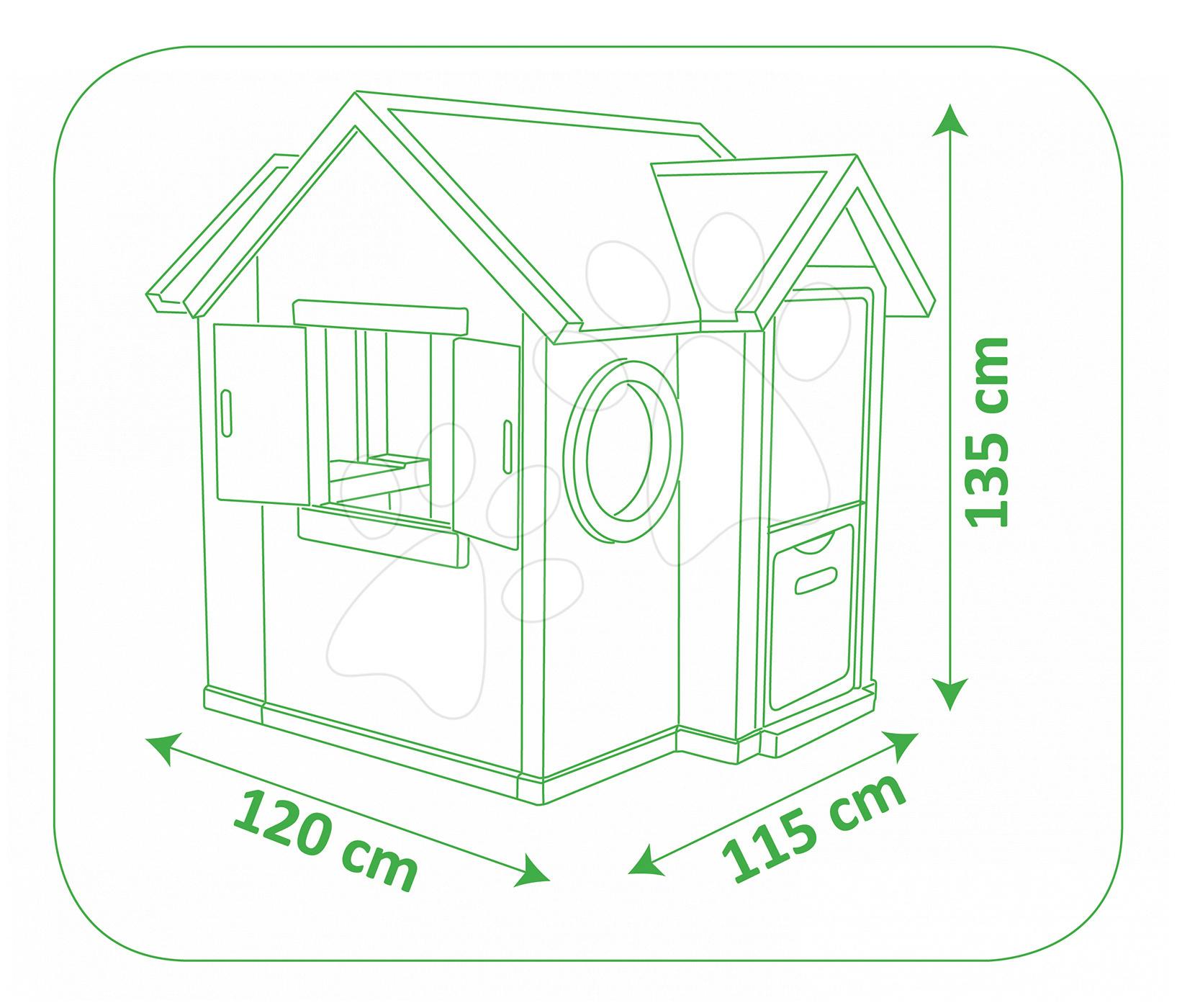 smoby detsk dom ek my house so zvon ekom 810402 smoby. Black Bedroom Furniture Sets. Home Design Ideas