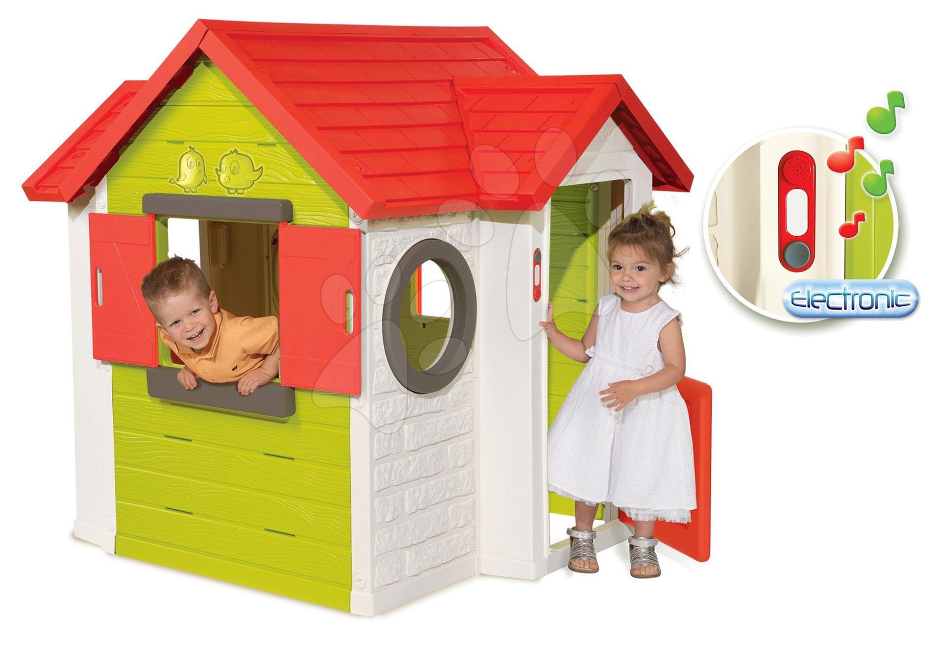 Domeček My House Smoby s 2 dveřmi, elektronickým zvonkem a UV filtr od 24 měsíců