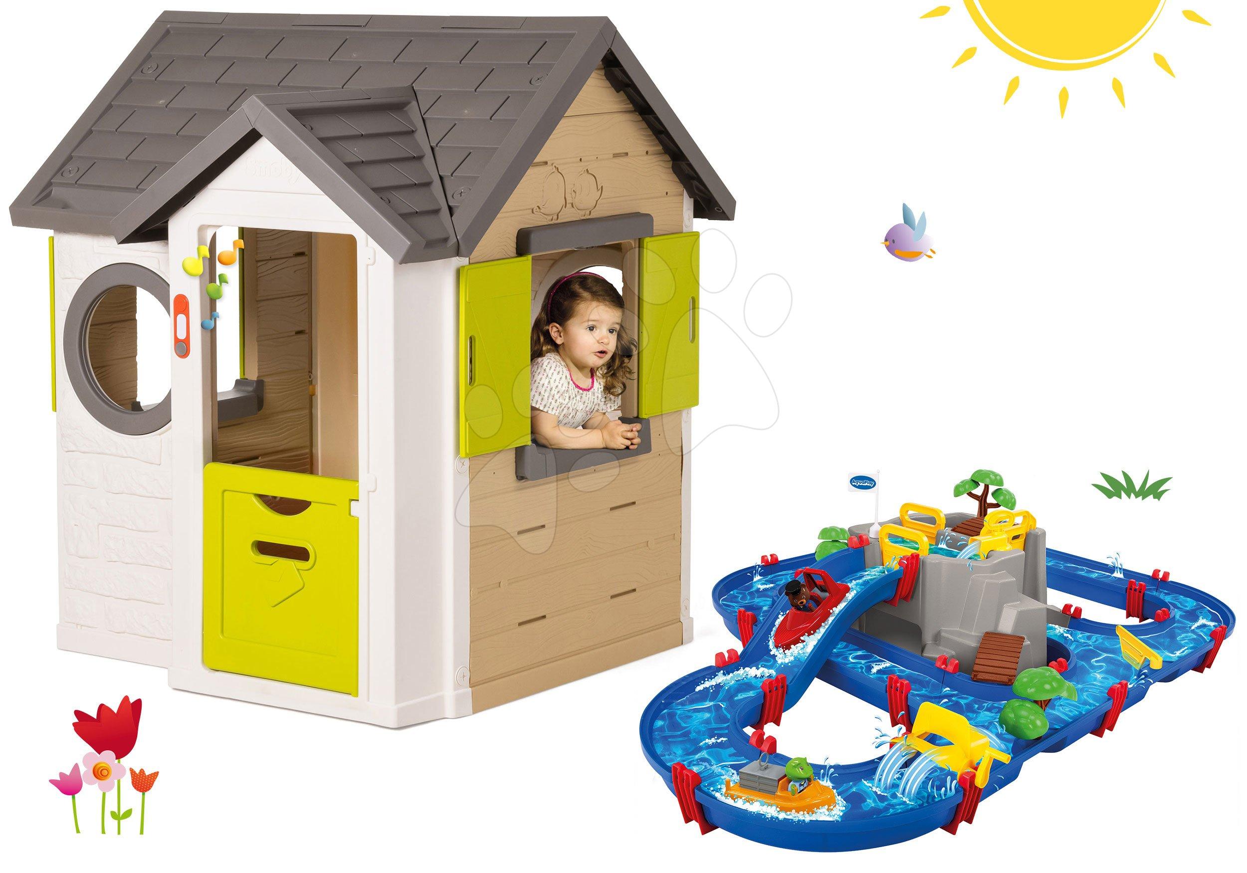 Smoby set domček My House a AquaPlay vodná hra Mountain Lake 810402-21