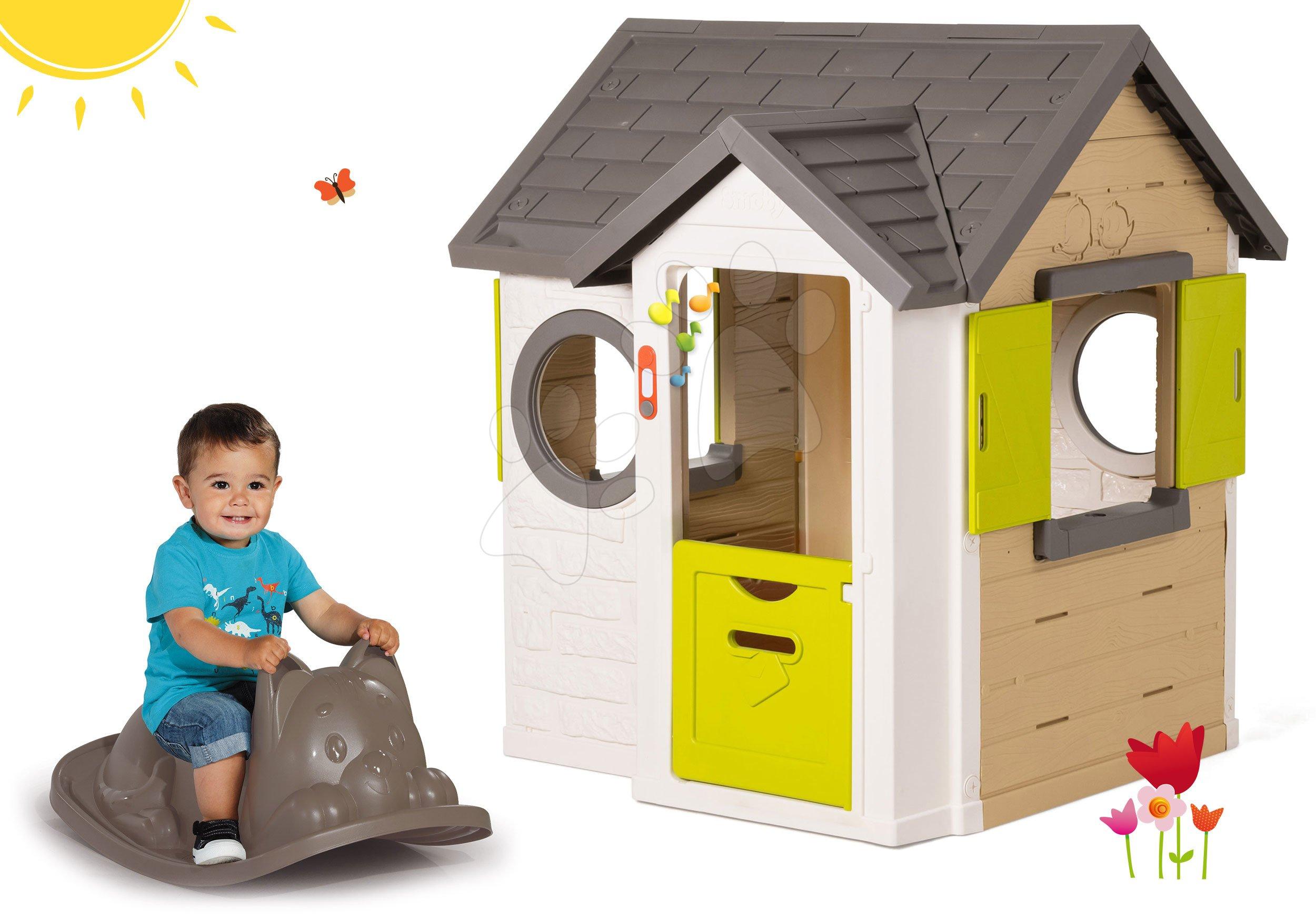 Smoby set domeček My House a houpačka Kocour 810402-23-B