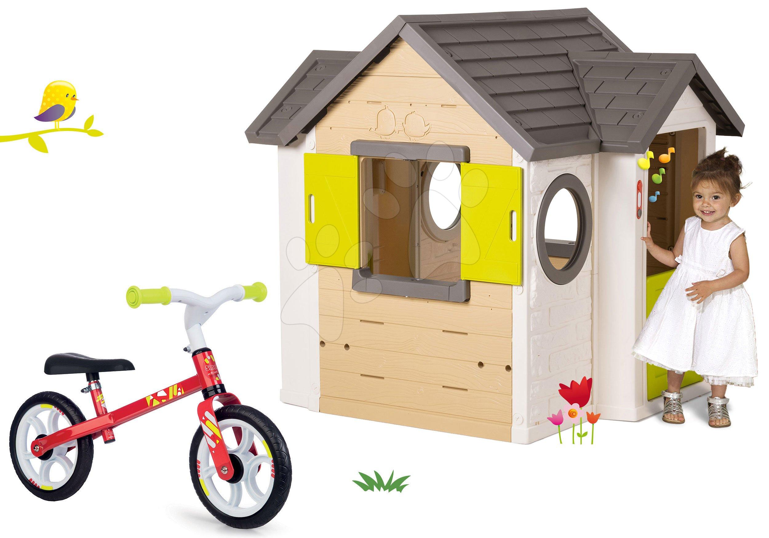 Smoby set domeček My House a balanční odrážedlo Learning Bike 810402-4