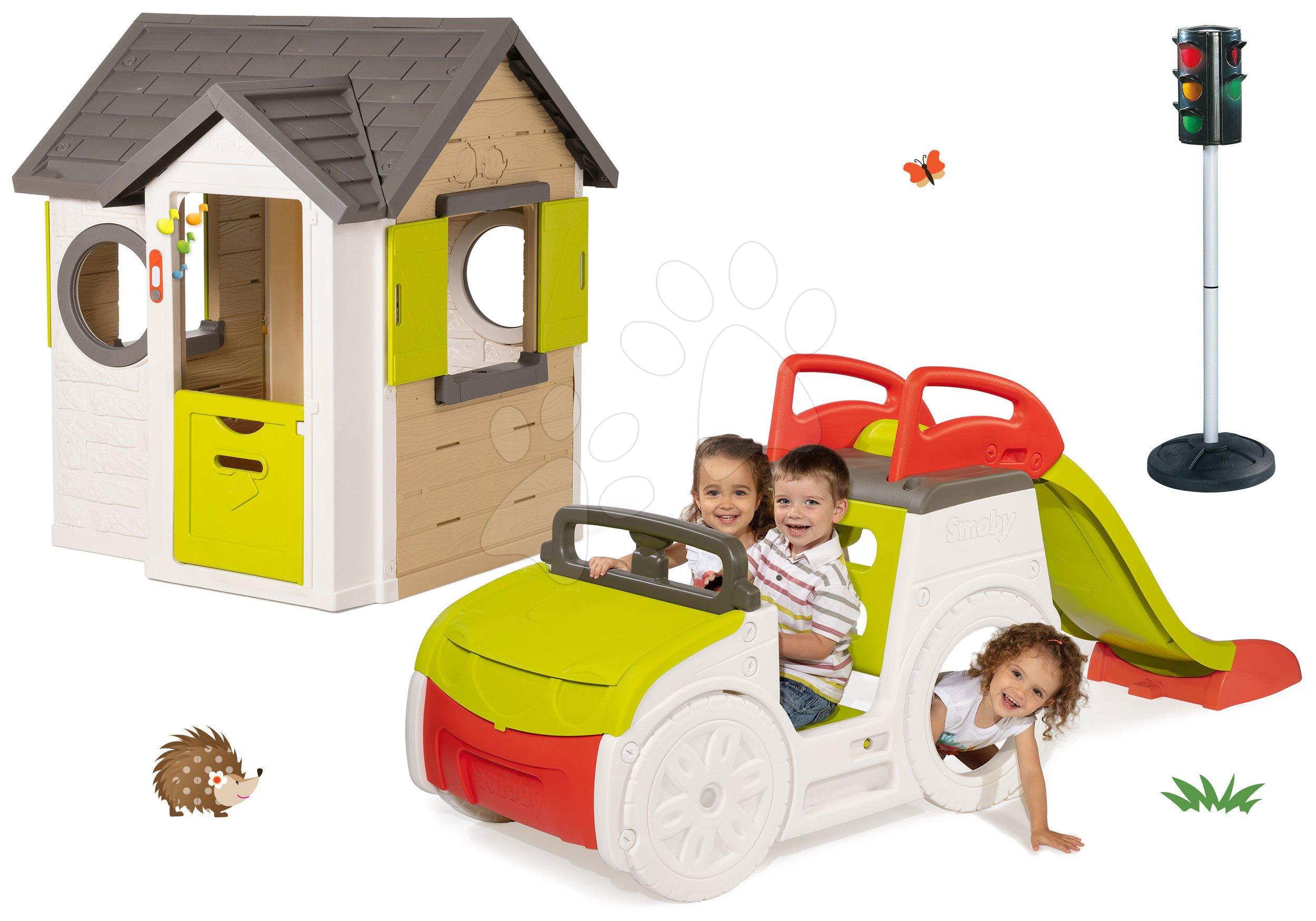 Smoby set domček My House, preliezačka Adventure Car a BIG semafor 810402-8