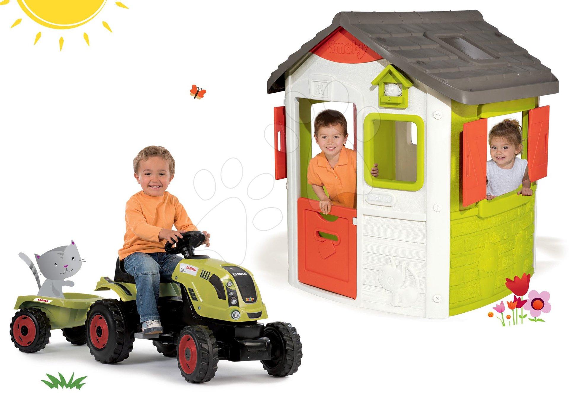 Smoby set domek Jura Lodge a traktor Claas GM 810500-17