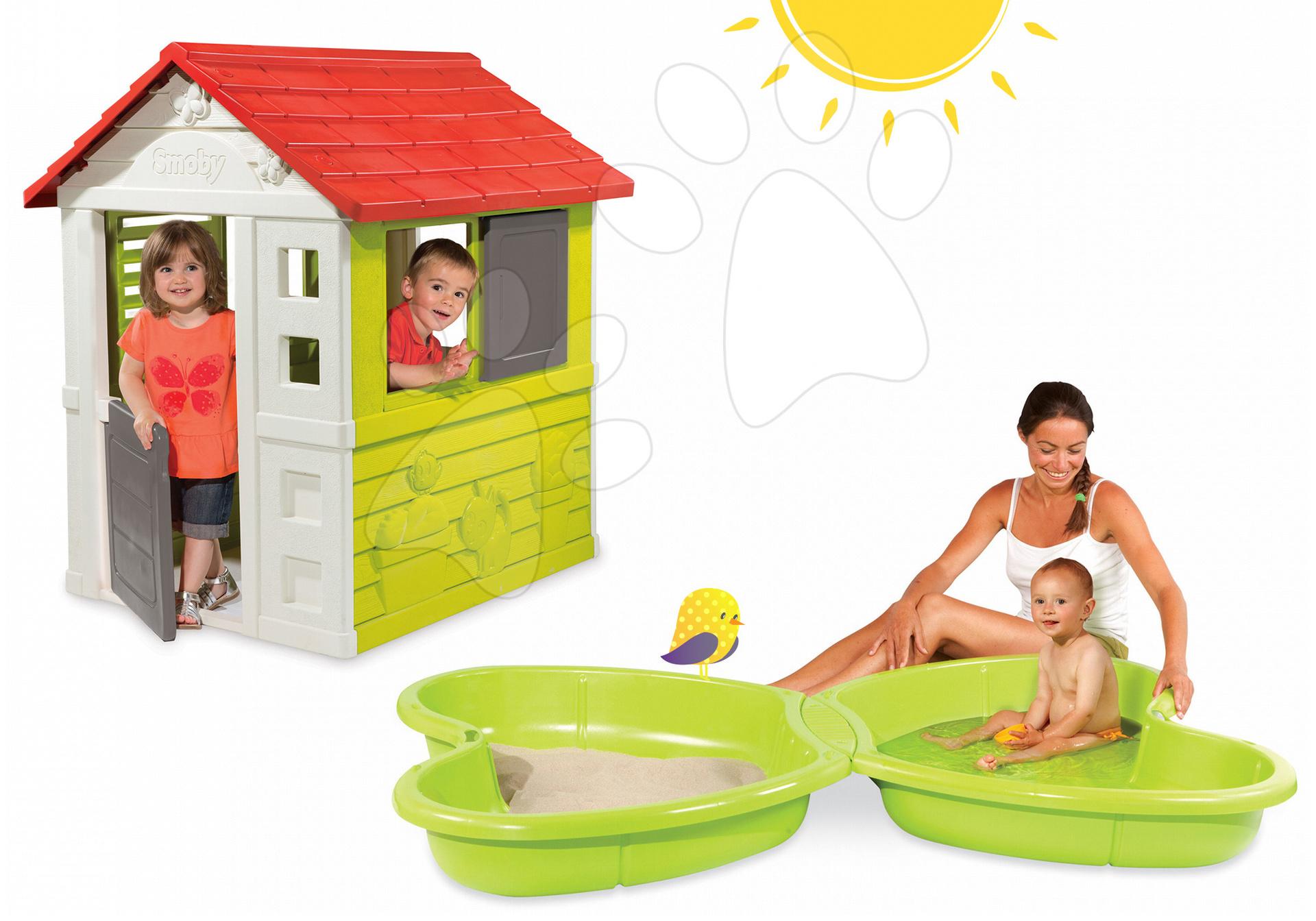 4756a54b8cb23 Detský záhradný domček a pieskovisko Smoby