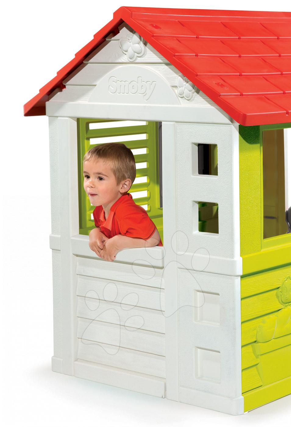 dome ek pro d ti smoby maison nature. Black Bedroom Furniture Sets. Home Design Ideas