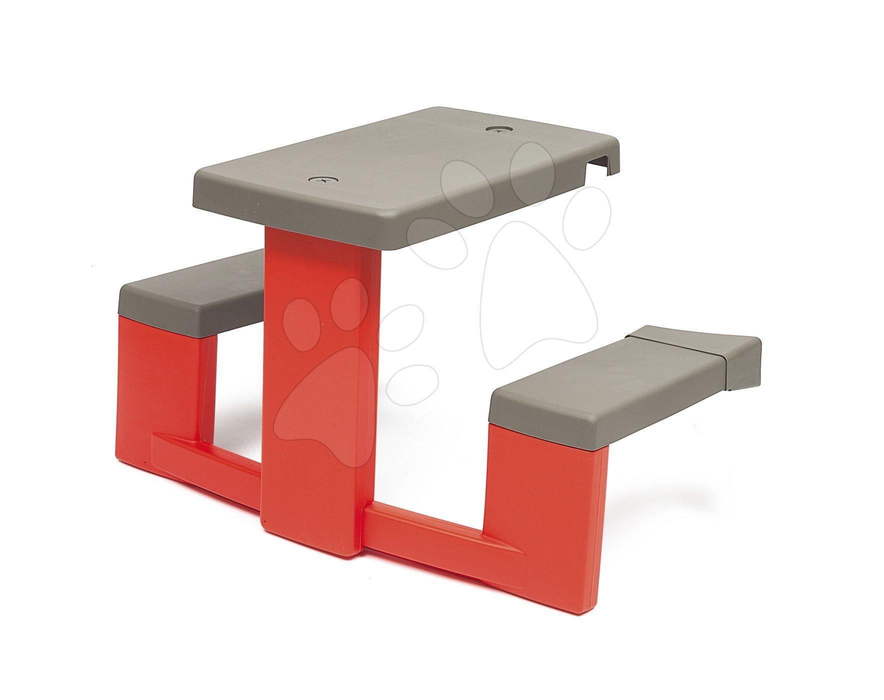 Smoby piknik stôl s dvoma lavicami k domčeku Neo Jura Lodge s UV filtrom 810902