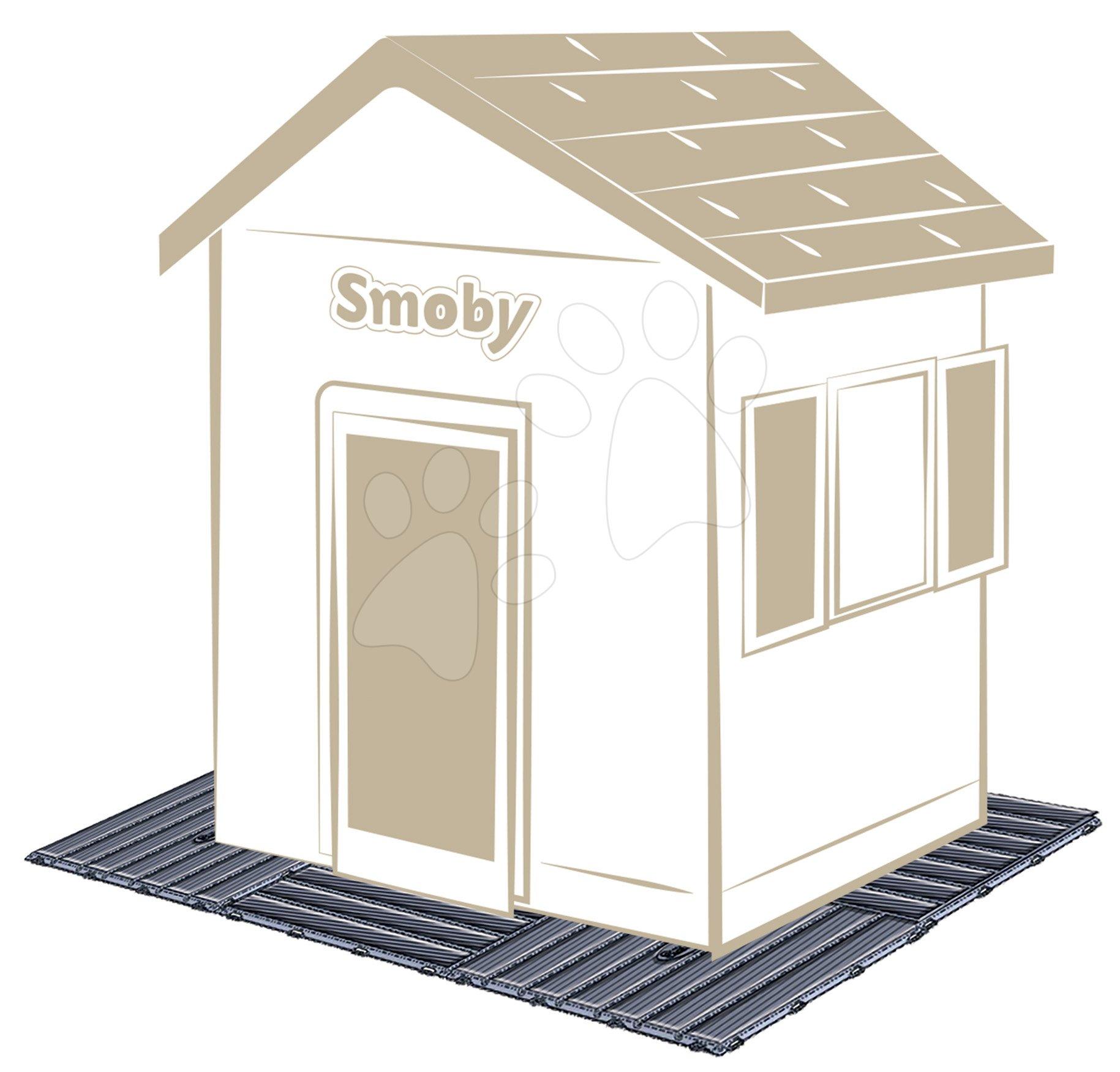 Pardosea pentru fiecare căsuță Smoby sau pentru realizarea terasei și trotuarului set format din 6 pătrate 45*45 cm/1,2 m2