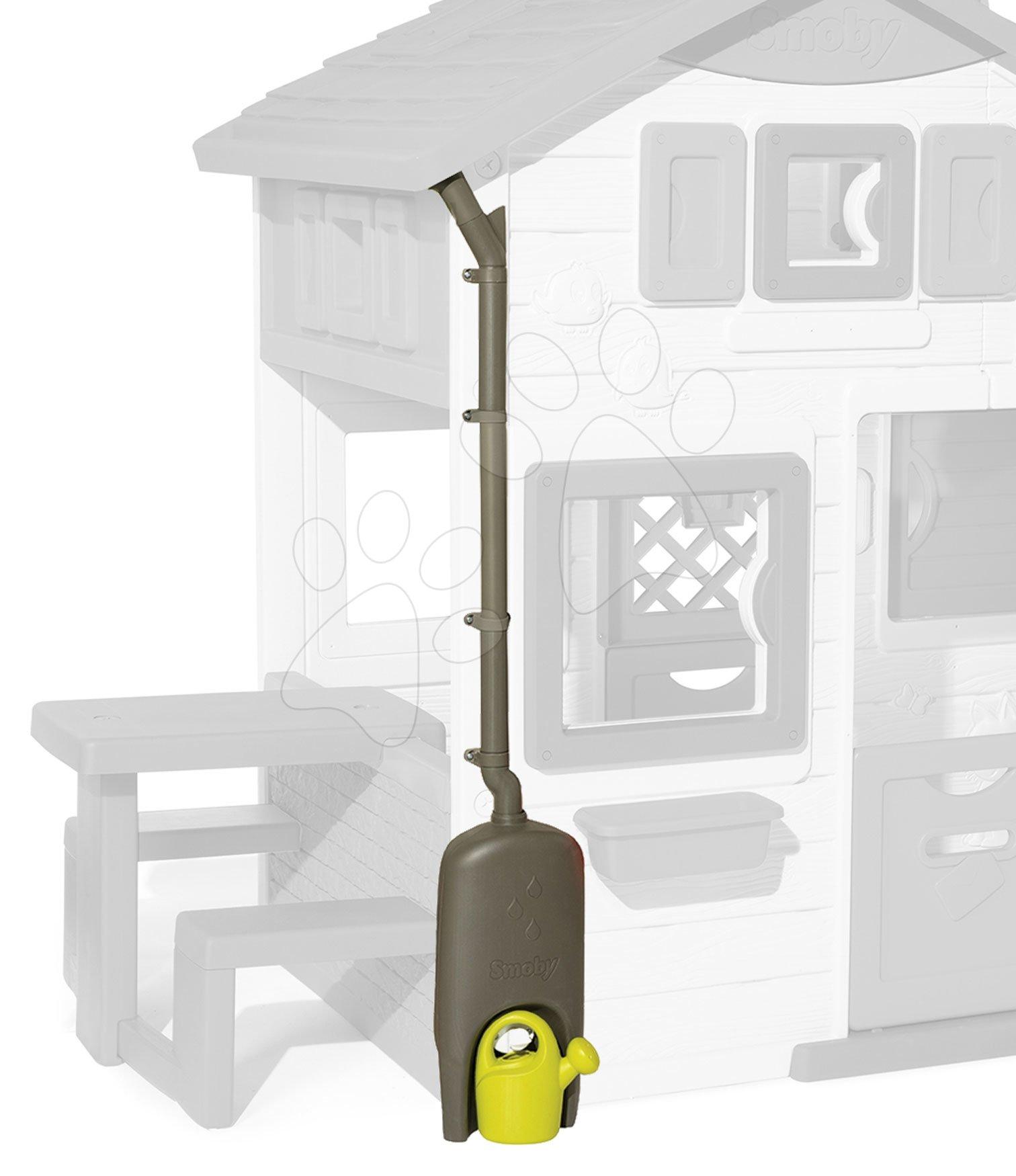 Odkvap so zberačom dažďovej vody Watter Butt Plus k Smoby domčekom a nádrž s funkčným kohútikom a krhličkou s UV filtrom