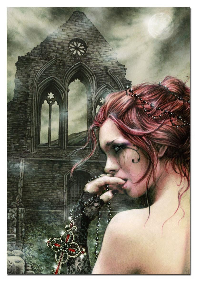 Puzzle Femeia miezului nopţii/Victoria Frances Educa 1500 bucăţi 85 x 60 cm