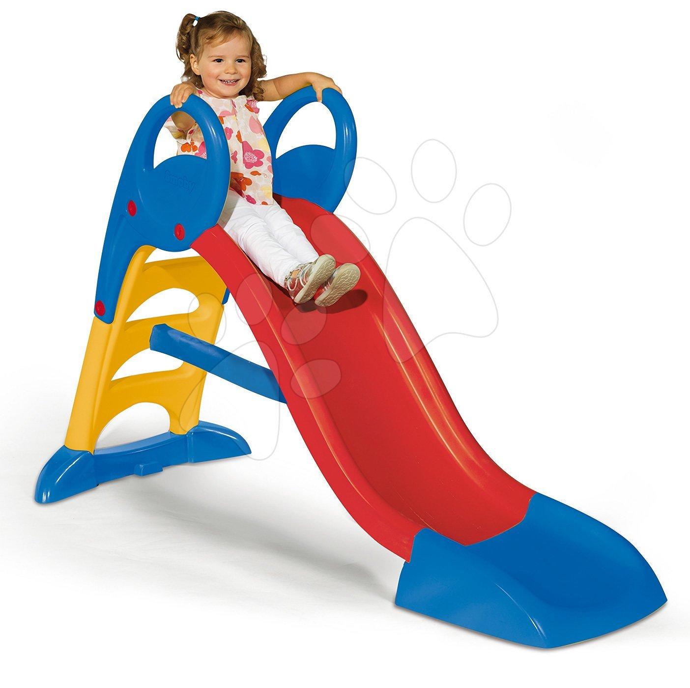 Skluzavky pro děti - Skluzavka Toboggan KS Smoby modro-červená s vodou délka 1,5 m od 24 měsíců