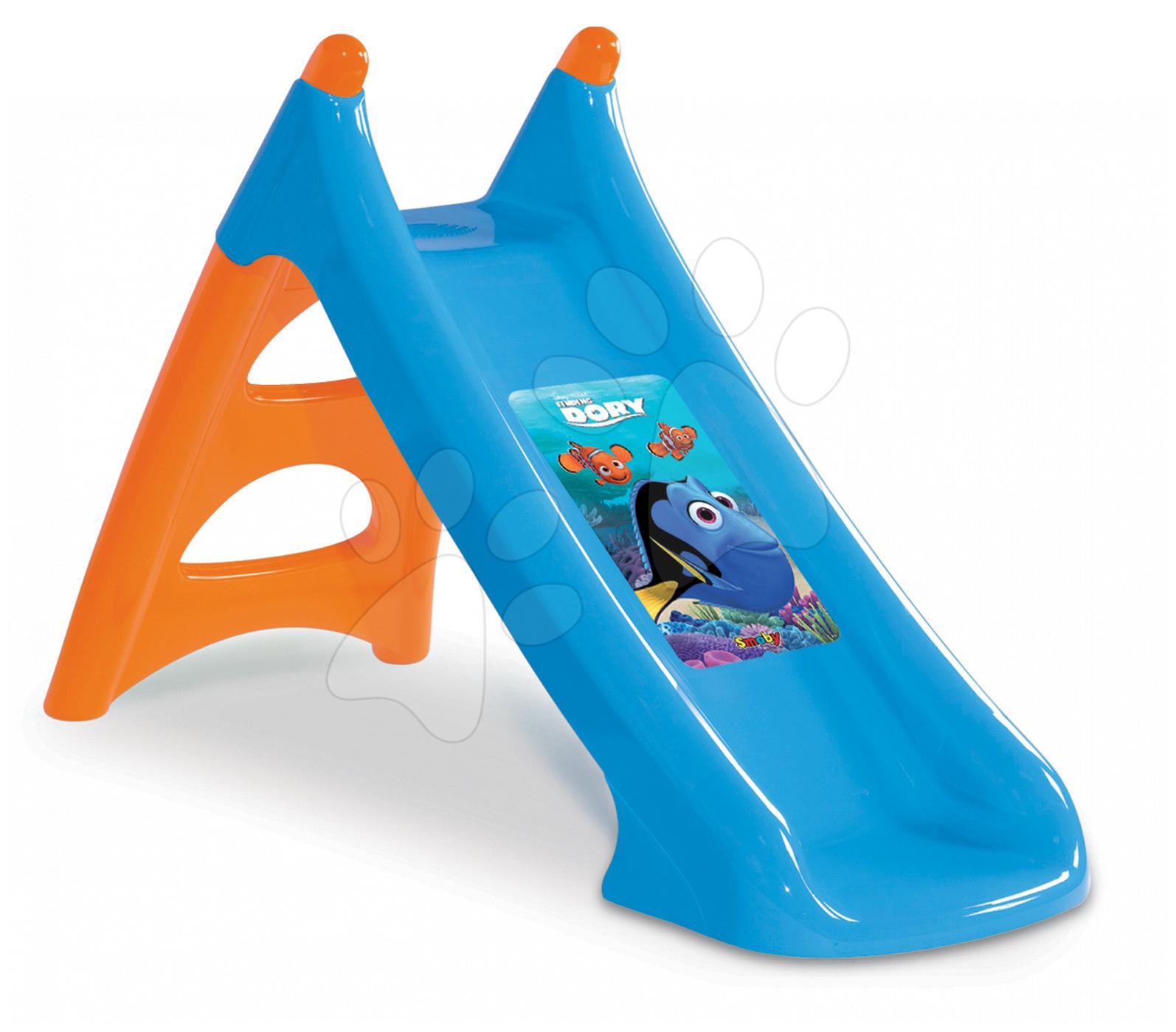 Šmykľavky pre deti  - Šmykľavka Hľadá sa Dory Smoby Toboggan XS s vodou dĺžka 90 cm od 24 mes