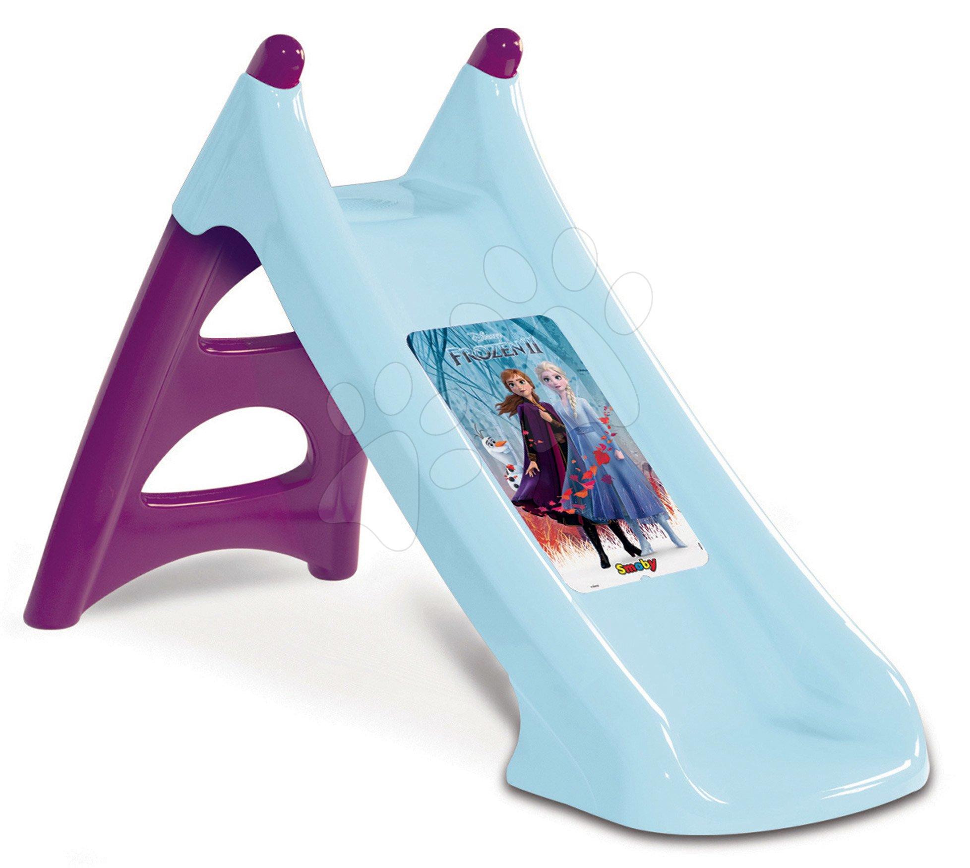 Skluzavka Frozen Disney XS Smoby s vodotryskem, 90cm plocha na klouzání od 2 let