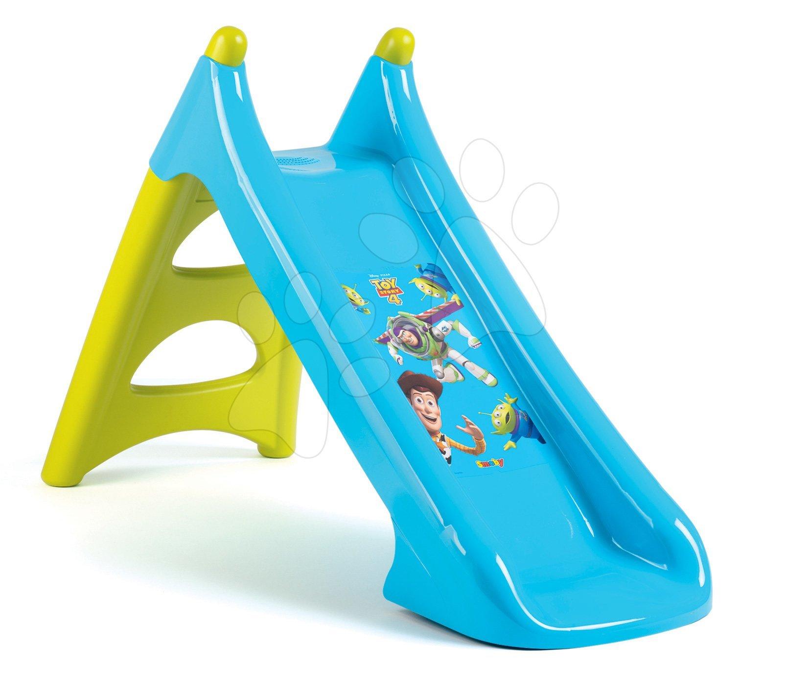 Skluzavka Disney Toy Story Toboggan XS Smoby s vodotryskem 90cm plocha na klouzání od 2 let
