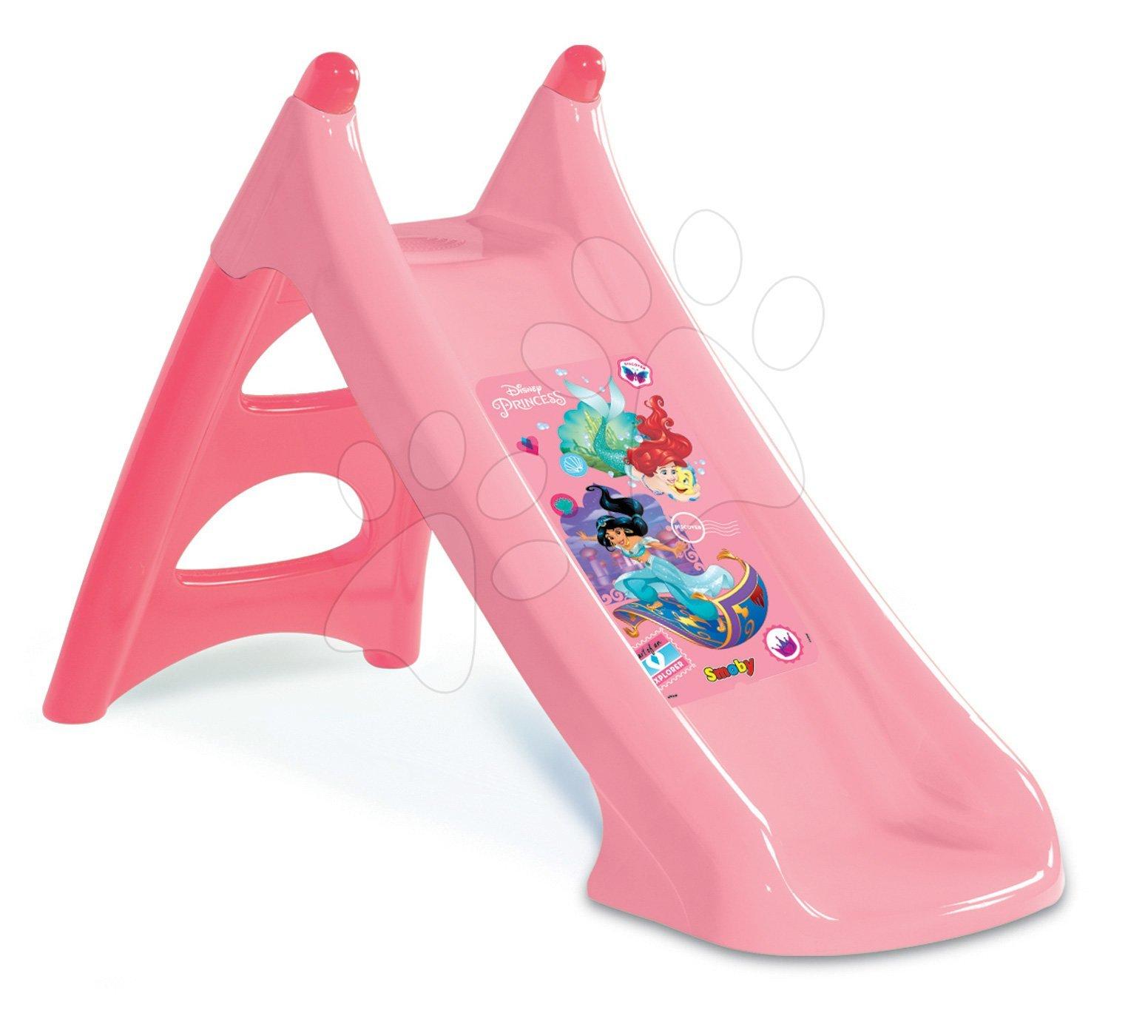 Tobogani za djecu  - Tobogan Disney Princess Toboggan XS Smoby s vodenim mlazom klizna površina 90 cm od 2 godine