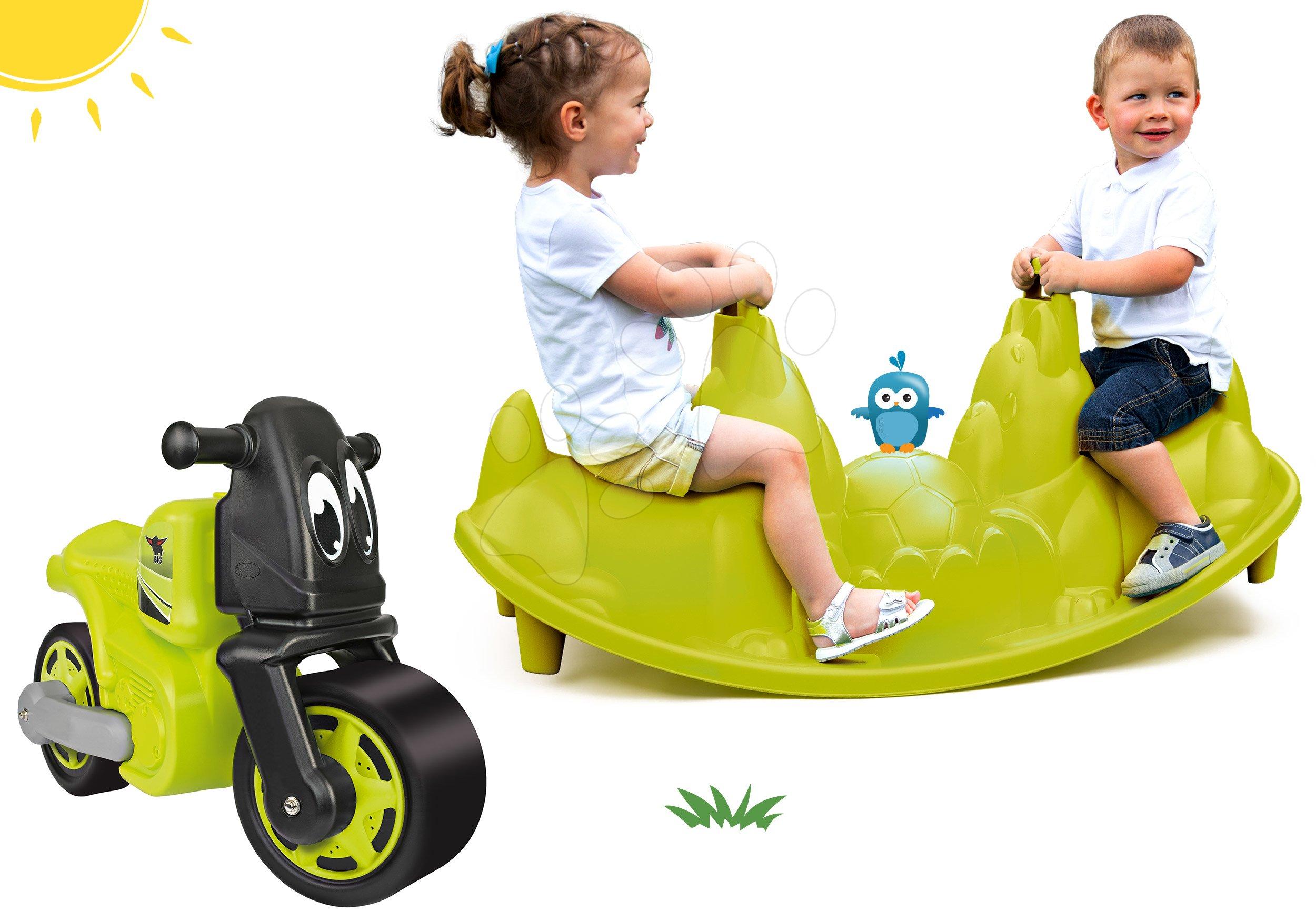 Smoby dětská houpačka Tuleň s vodotryskem a BIG odrážedlo Racing Bike 310159-8
