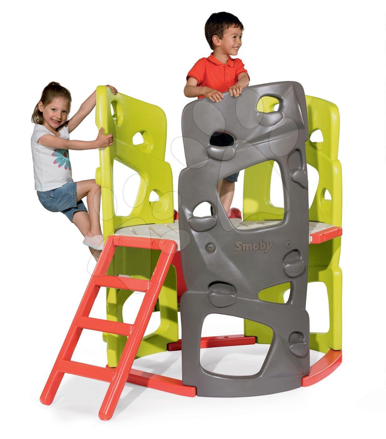 Smoby preliezačka Multiactivity Climbing Tower s 3 lezeckými stenami a 150 cm šmykľavkou s UV filtrom 840204