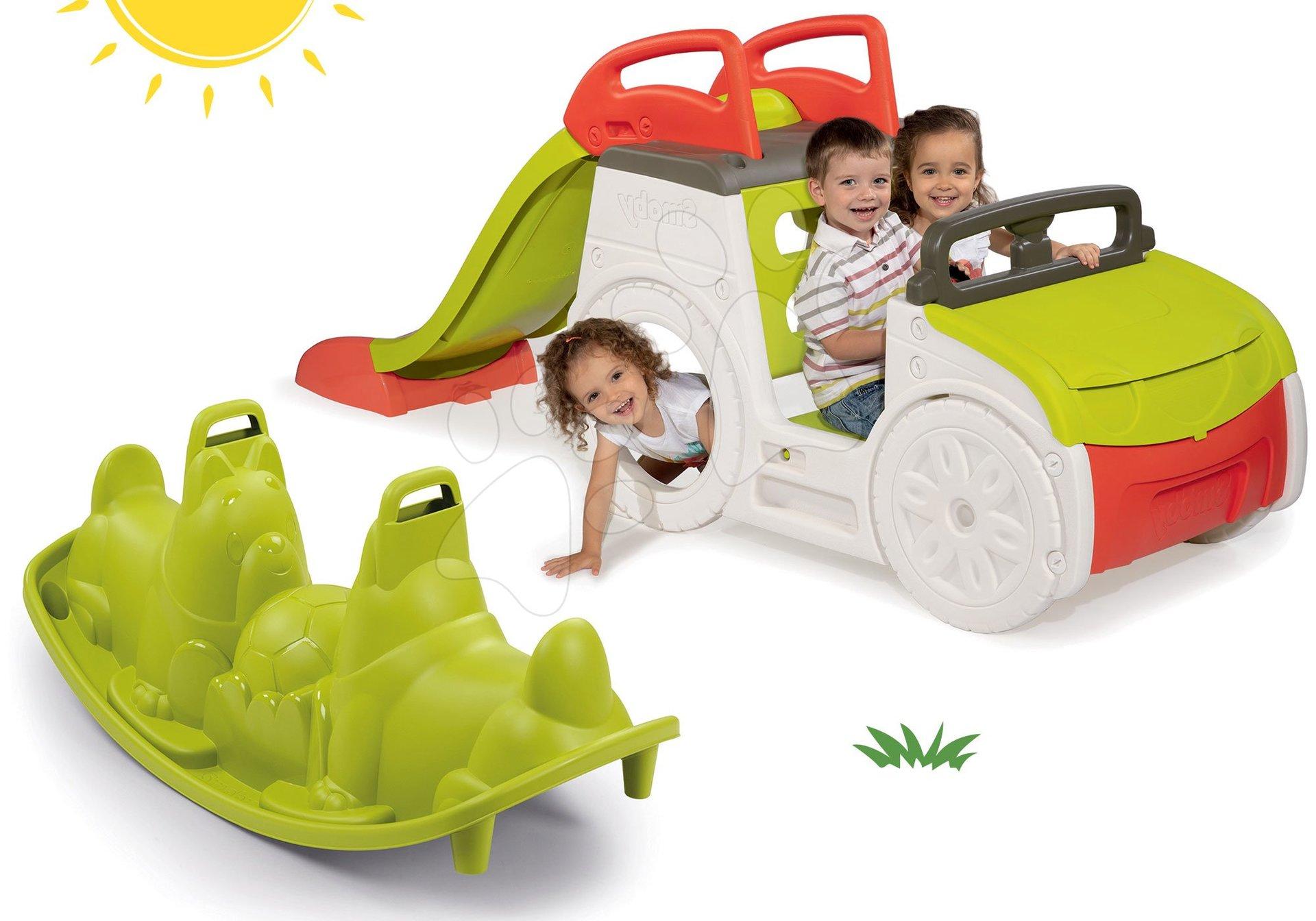 Smoby set prolézačka Adventure Car a oboustranná houpačka Tuleň 840200-3