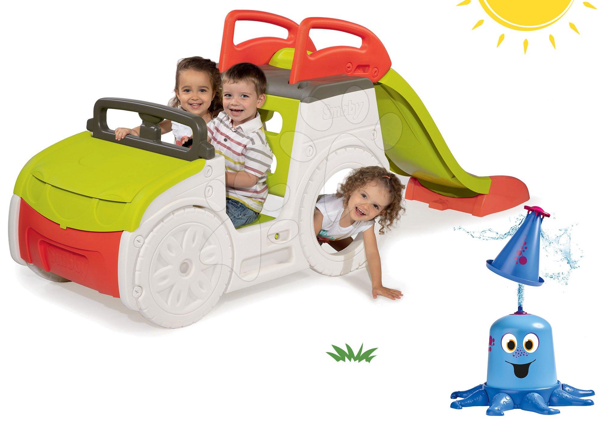 Smoby set prolézačka Adventure Car a BIG vodní klaun 840200-6