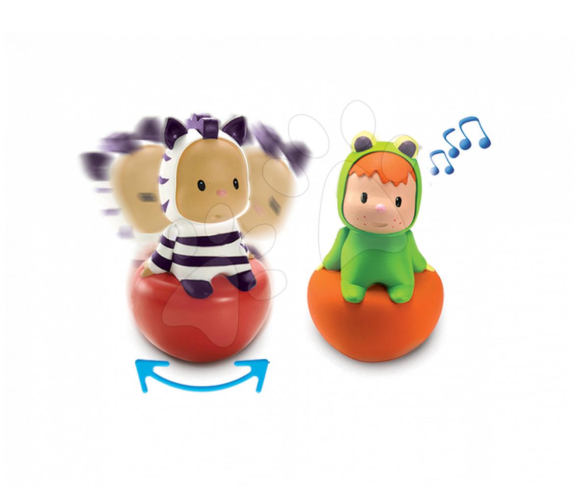 Jucării cu sunete - Figurine pentru bebeluşi Cotoons Rolly Polys Smoby Moki/Wabap/Punky de la 6 luni
