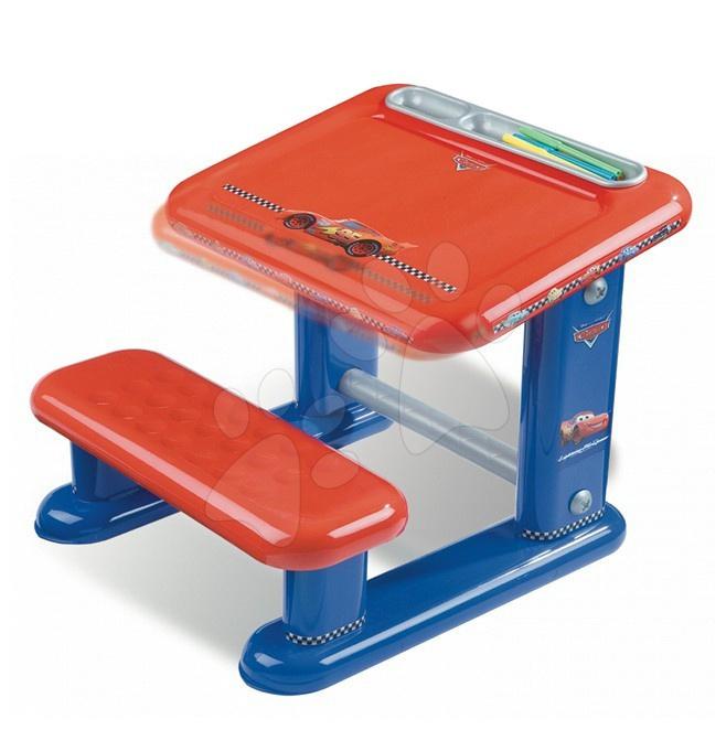 Školská lavica Autá Smoby modro-červená