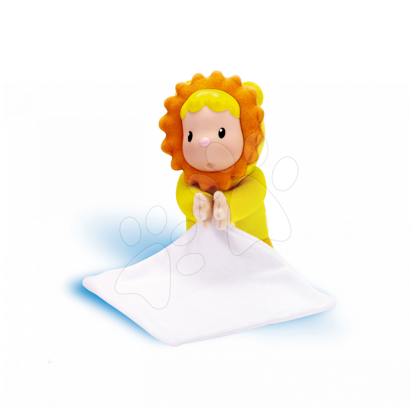 Panenka Doudou Tulip Cotoons Smoby květinka s kapesníkem pro kojence žlutá