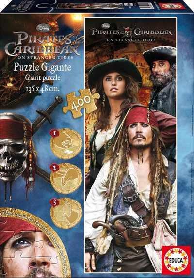Dětské skládací koberce - Disney puzzle cardboard giant Piráti s Karibiku Educa 400 dílků