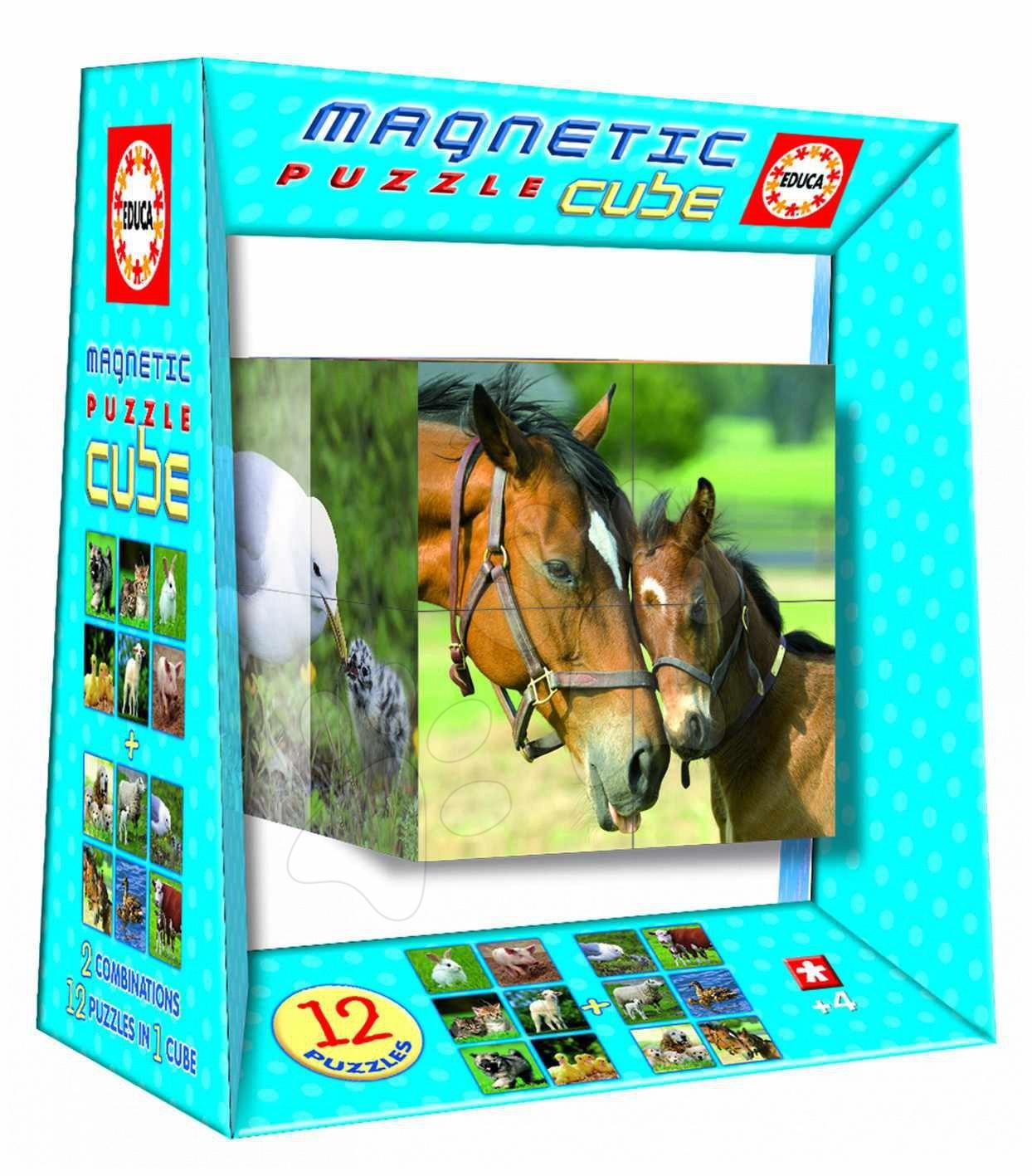 Rozprávkové kocky - Magnetické puzzle 8 cubes educa