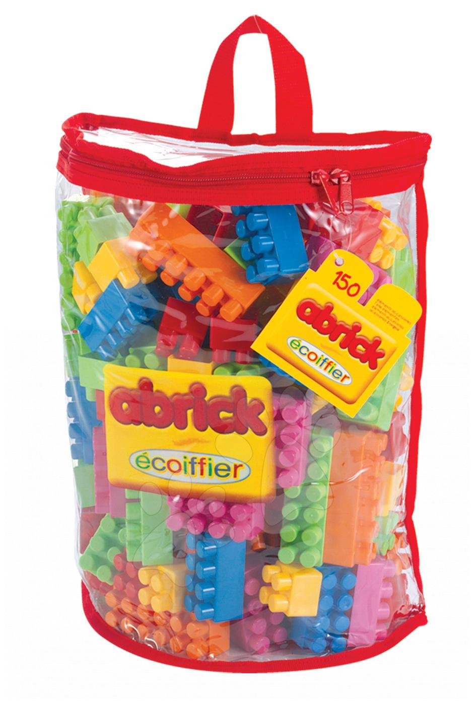 Abrick építőkockák - Építőjáték Abrick Écoiffier táskában 150 darabos