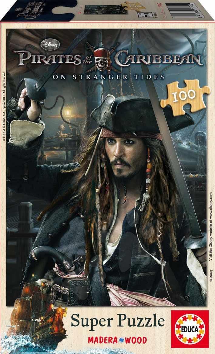 Dřevěné puzzle Piráti z Karibiku Educa 100 dílů od 5 let
