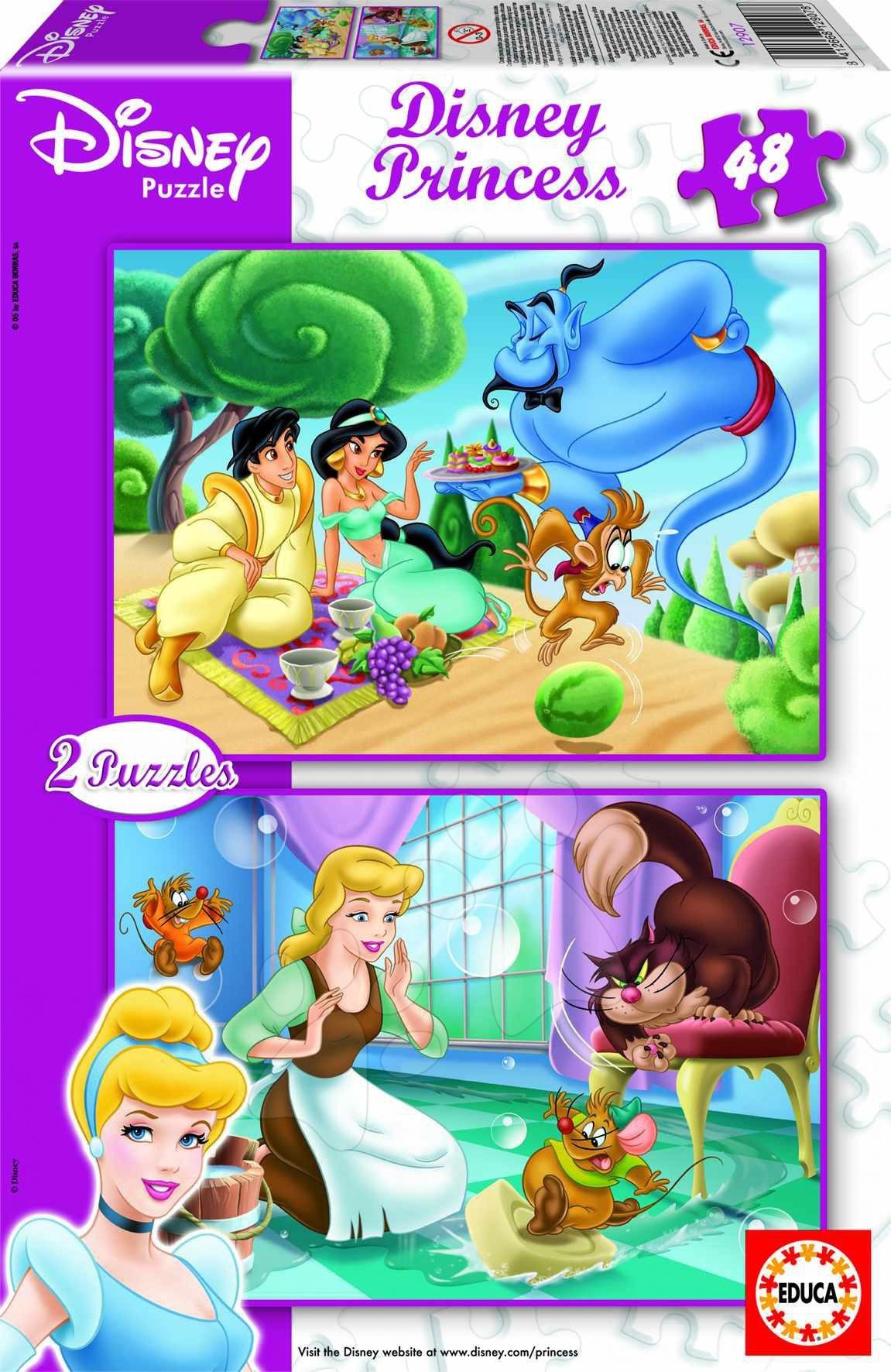 Staré položky - Puzzle Disney Princess Educa 2x 48 dielov