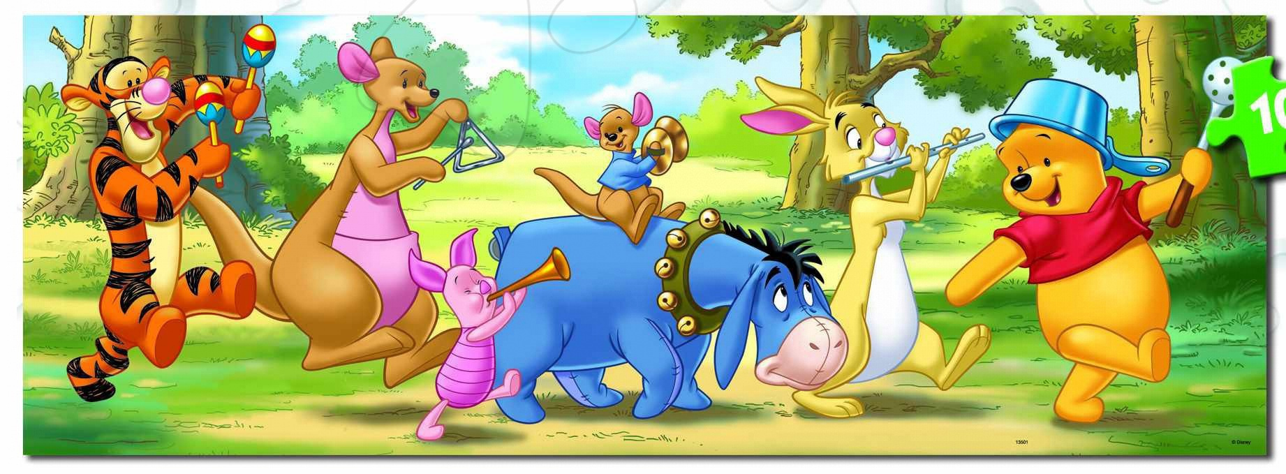 Disney puzzle Panorama Winnie the Pooh  Educa 100 dílků