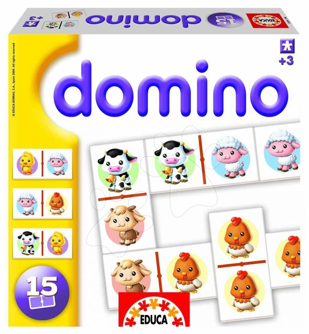 Domino pro nejmenší Farma zvířátka Educa 15 ks