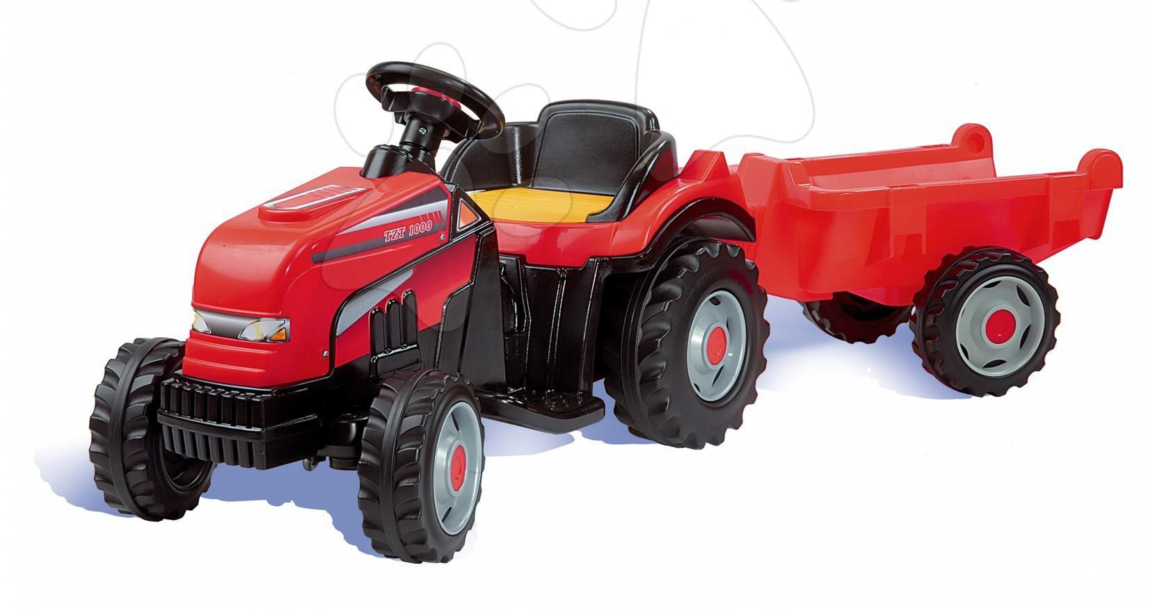 Traktor TZT elektrický Smoby na 6V batériu, 2.5 km/1hod