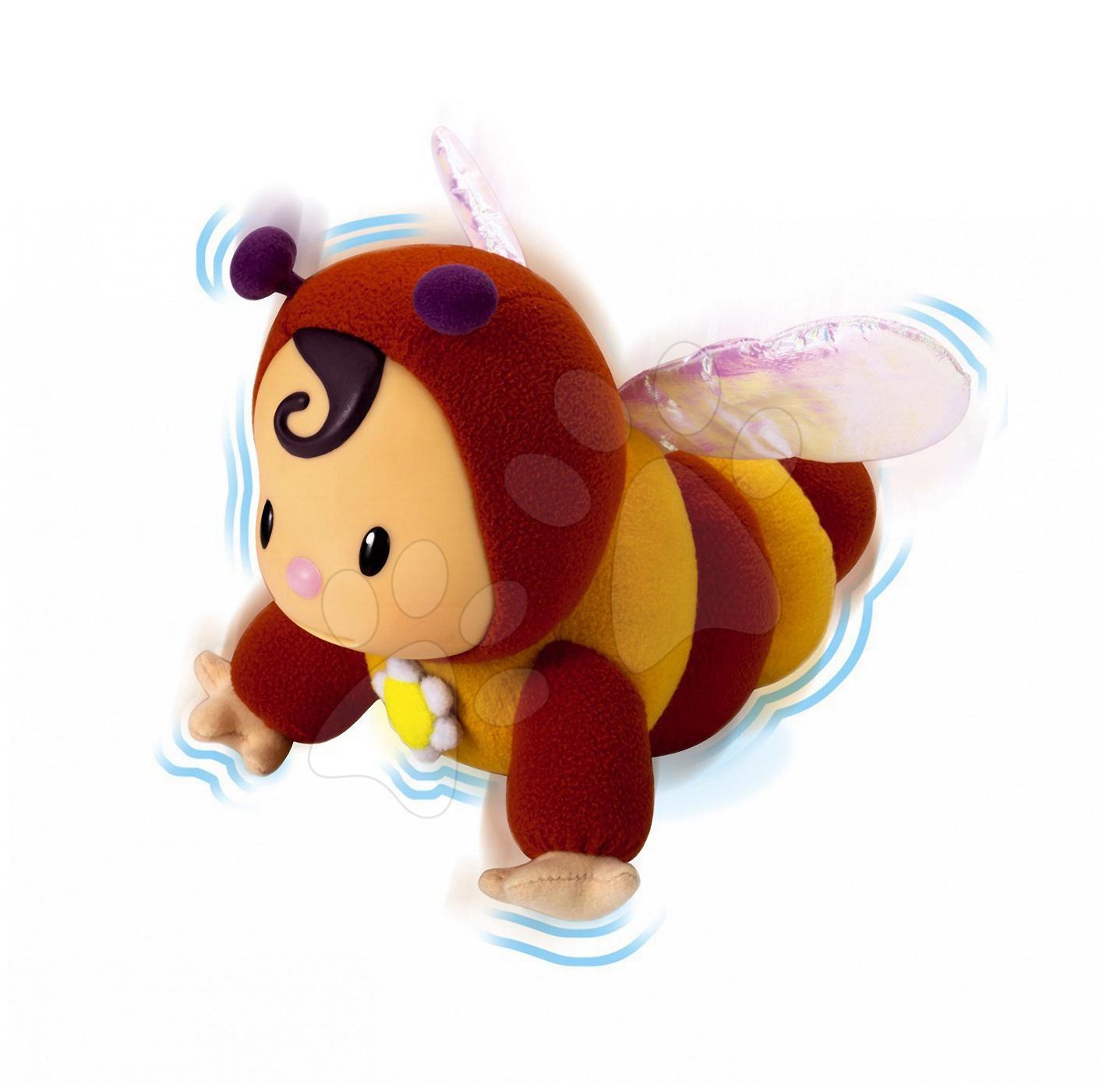 Hračky nad postieľku - Bábika Včielka Zoom Cotoons Smoby so šušťavými krídelkami pre kojencov hnedo-žltá