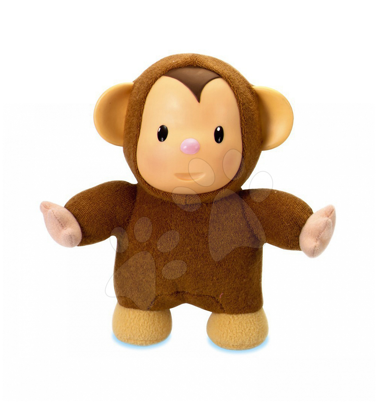 Panenka Moki Opička Cotoons Smoby froté pro kojence hnědá