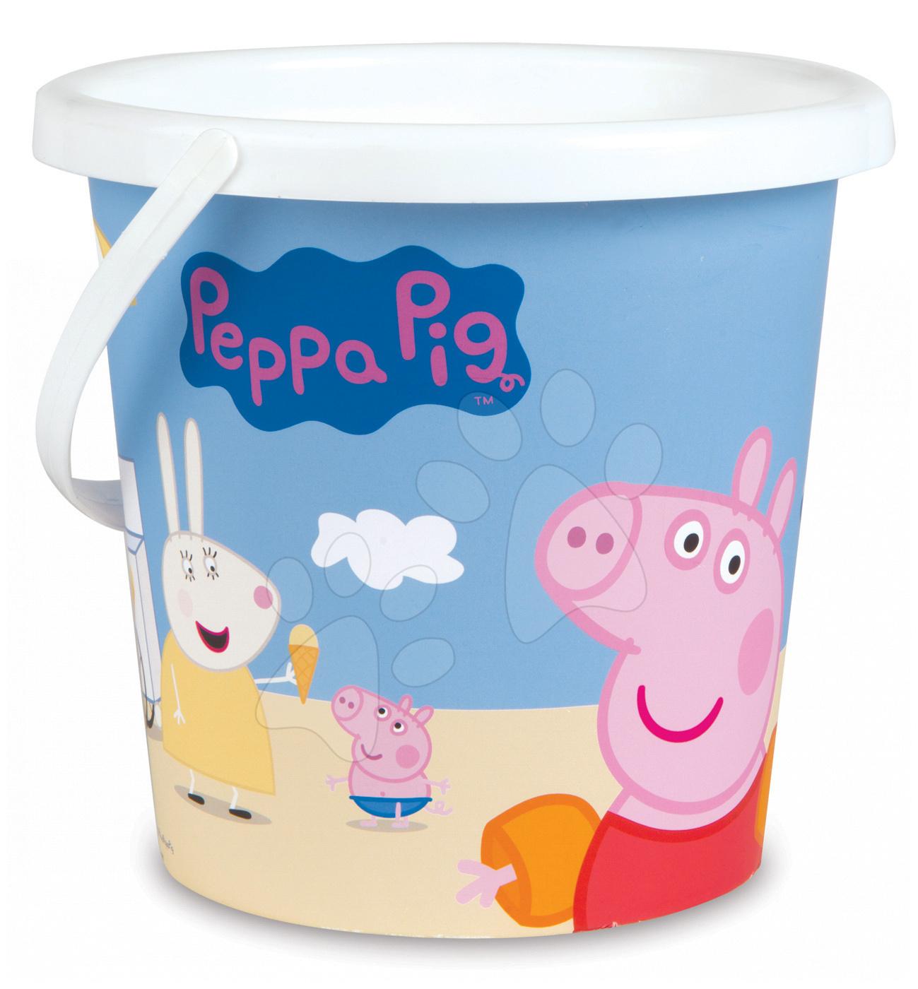 Kbelík do písku PEPPA PIG Smoby střední výška 18 cm od 18 měsíců